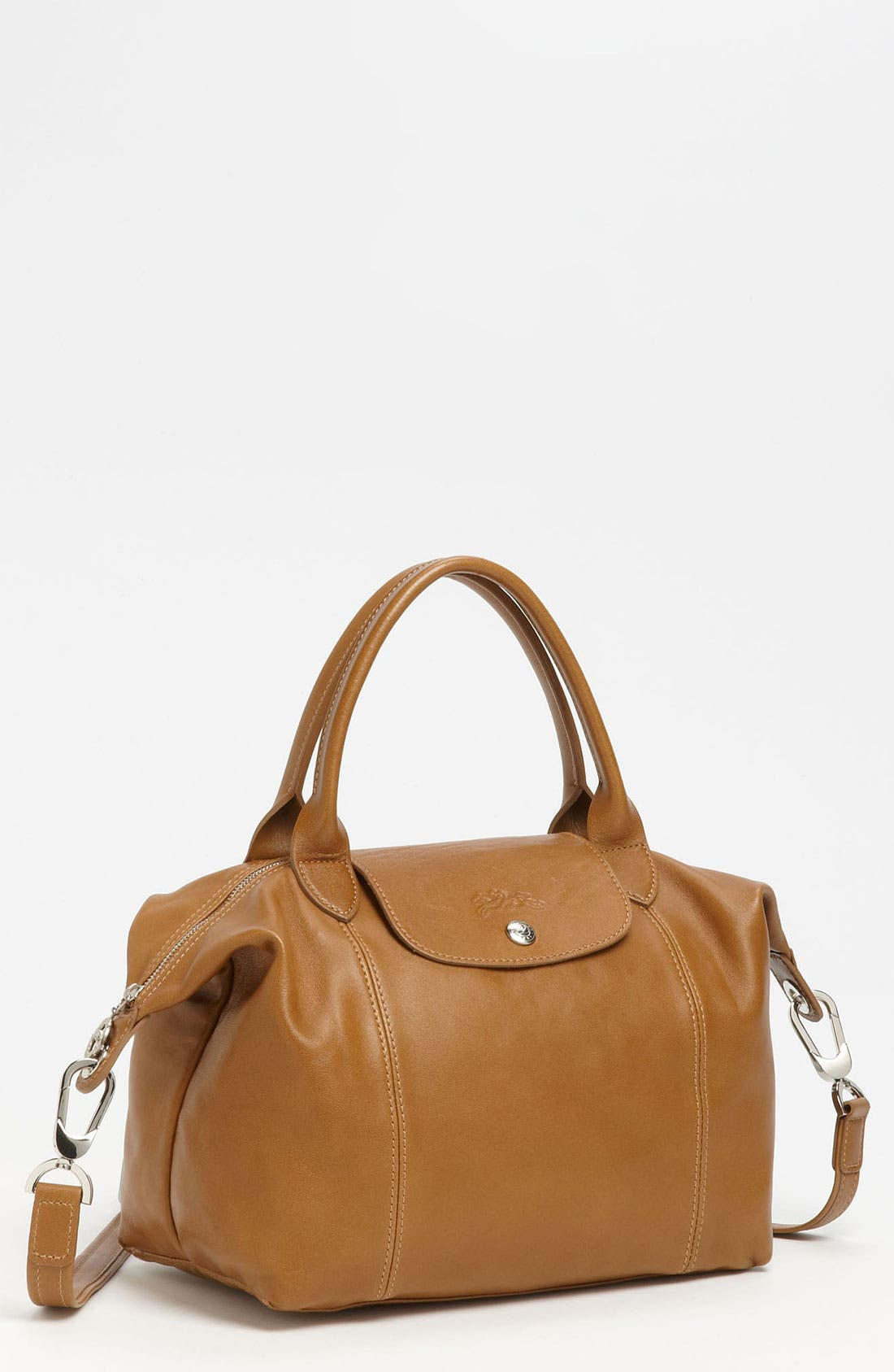 Small 'Le Pliage Cuir' Leather Top Handle Tote,                             Main thumbnail 8, color,