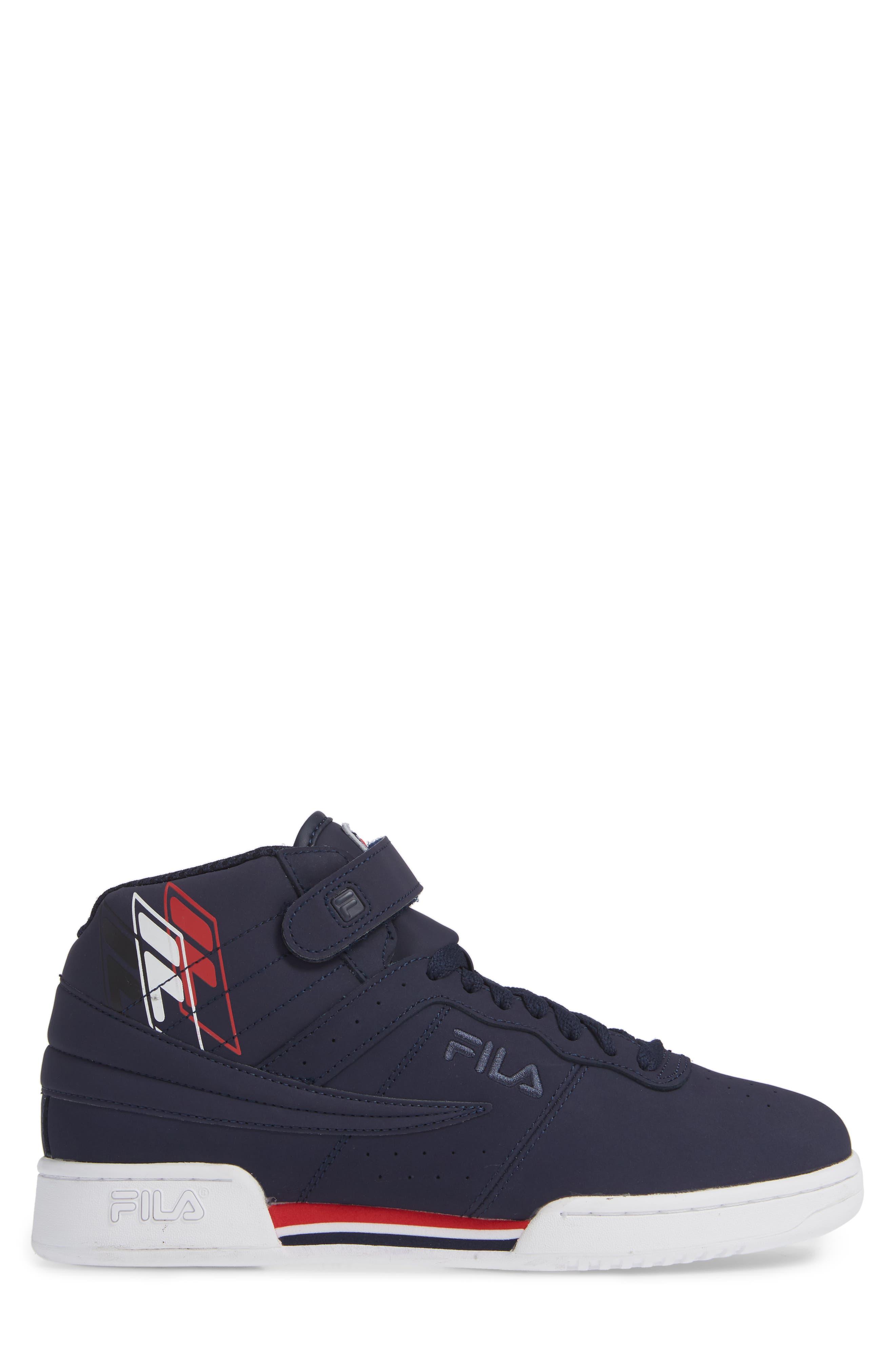 F-13 F-Box Sneaker,                             Alternate thumbnail 3, color,                             NAVY/ WHITE/ RED