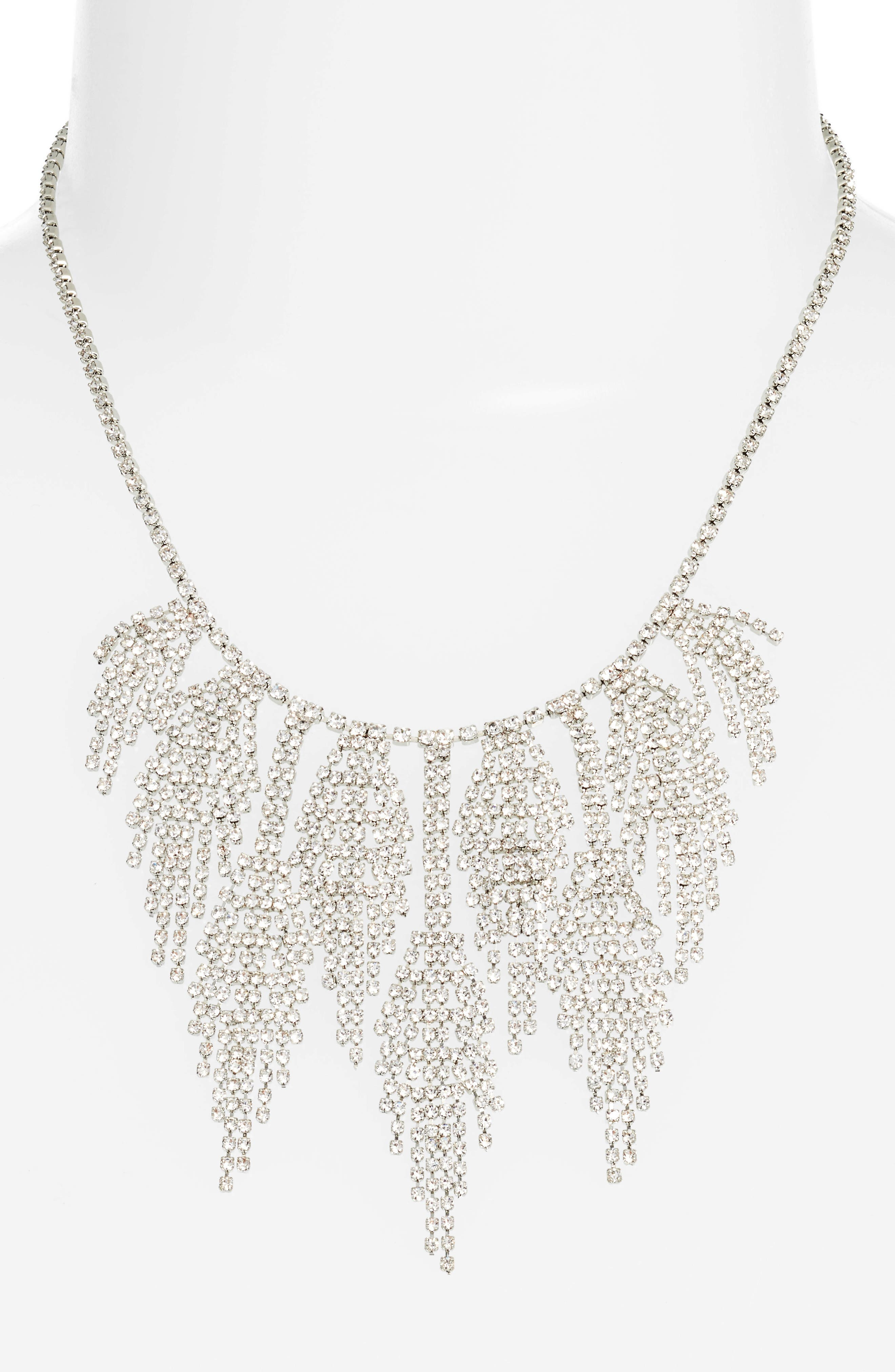Multifringe Crystal Necklace,                             Alternate thumbnail 2, color,