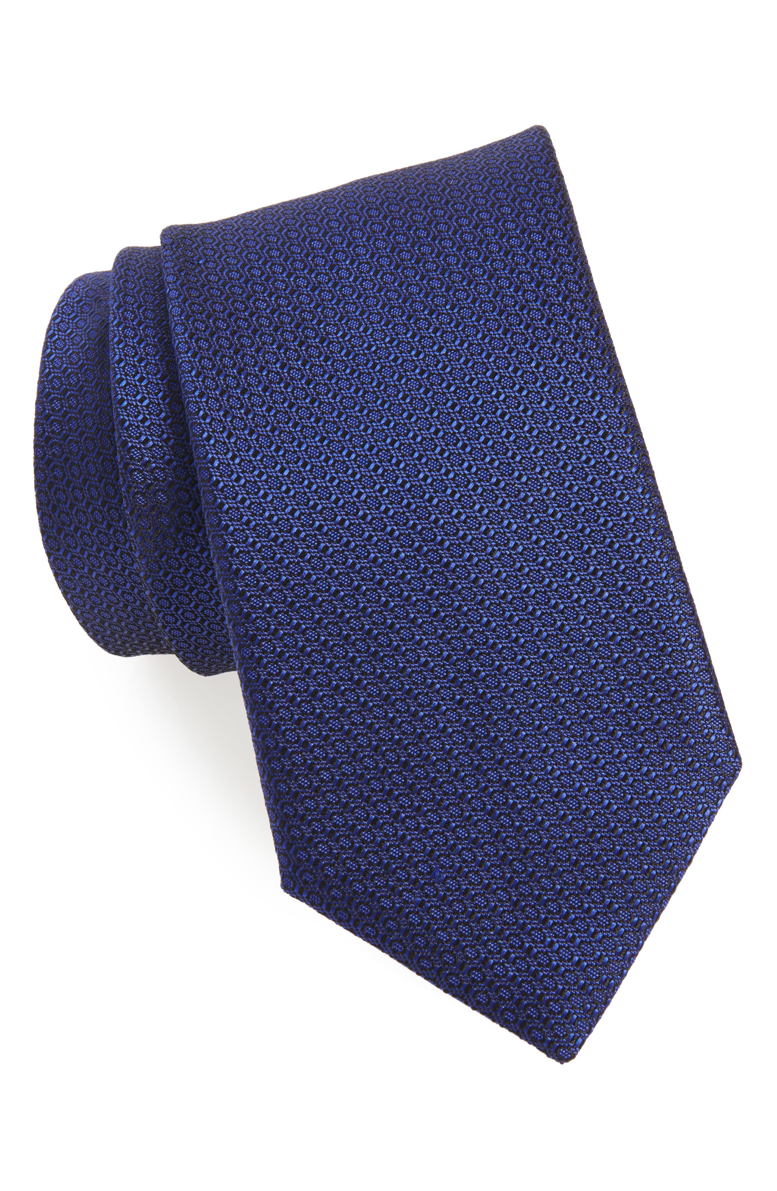 Solid Silk Tie,                             Main thumbnail 1, color,                             NAVY