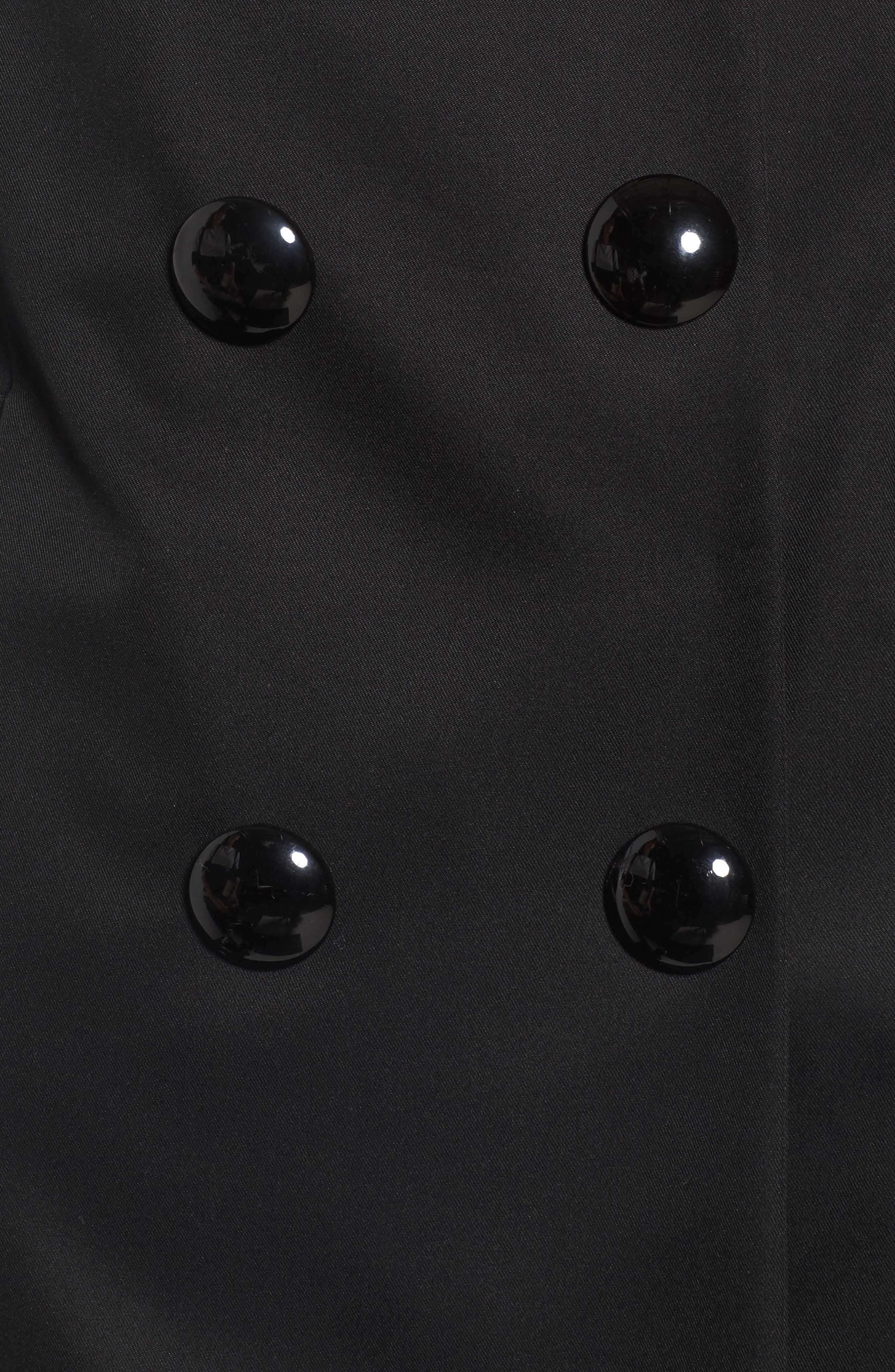scallop pocket a-line raincoat,                             Alternate thumbnail 6, color,                             001