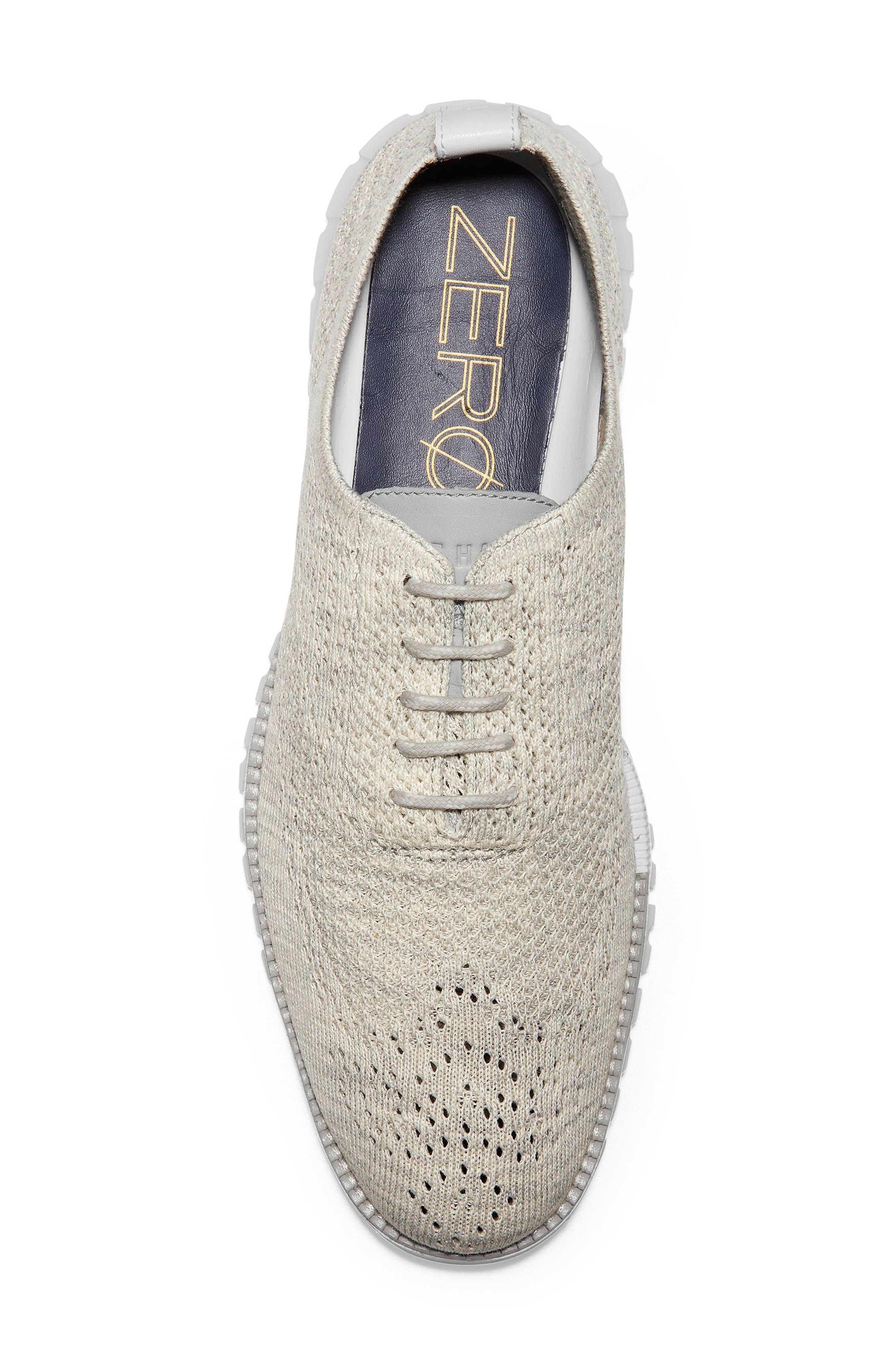 ZeroGrand Stitchlite Woven Wool Wingtip,                             Alternate thumbnail 5, color,                             HARBOR MIST KNIT