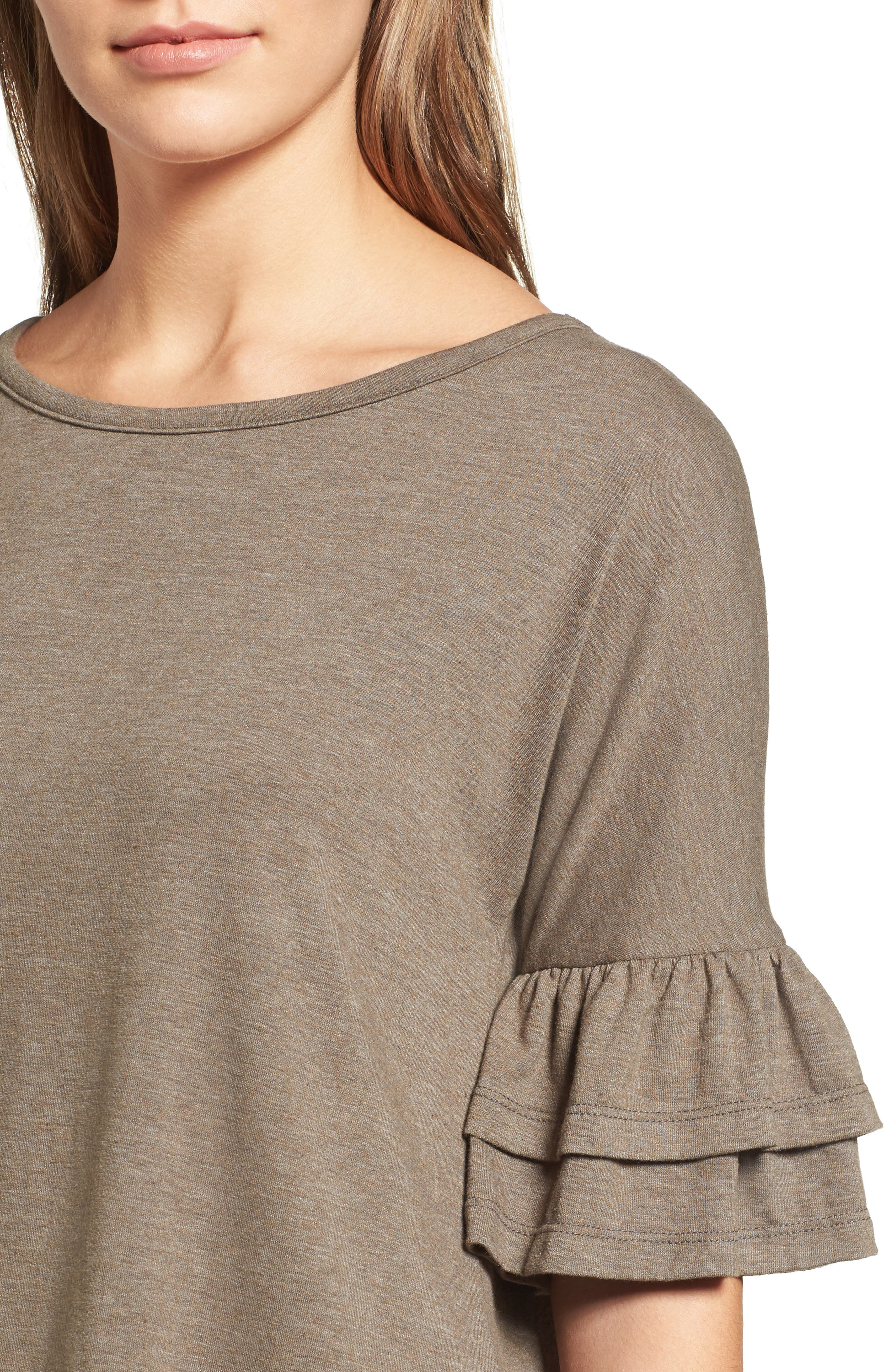 Tiered Bell Sleeve Tee,                             Alternate thumbnail 29, color,