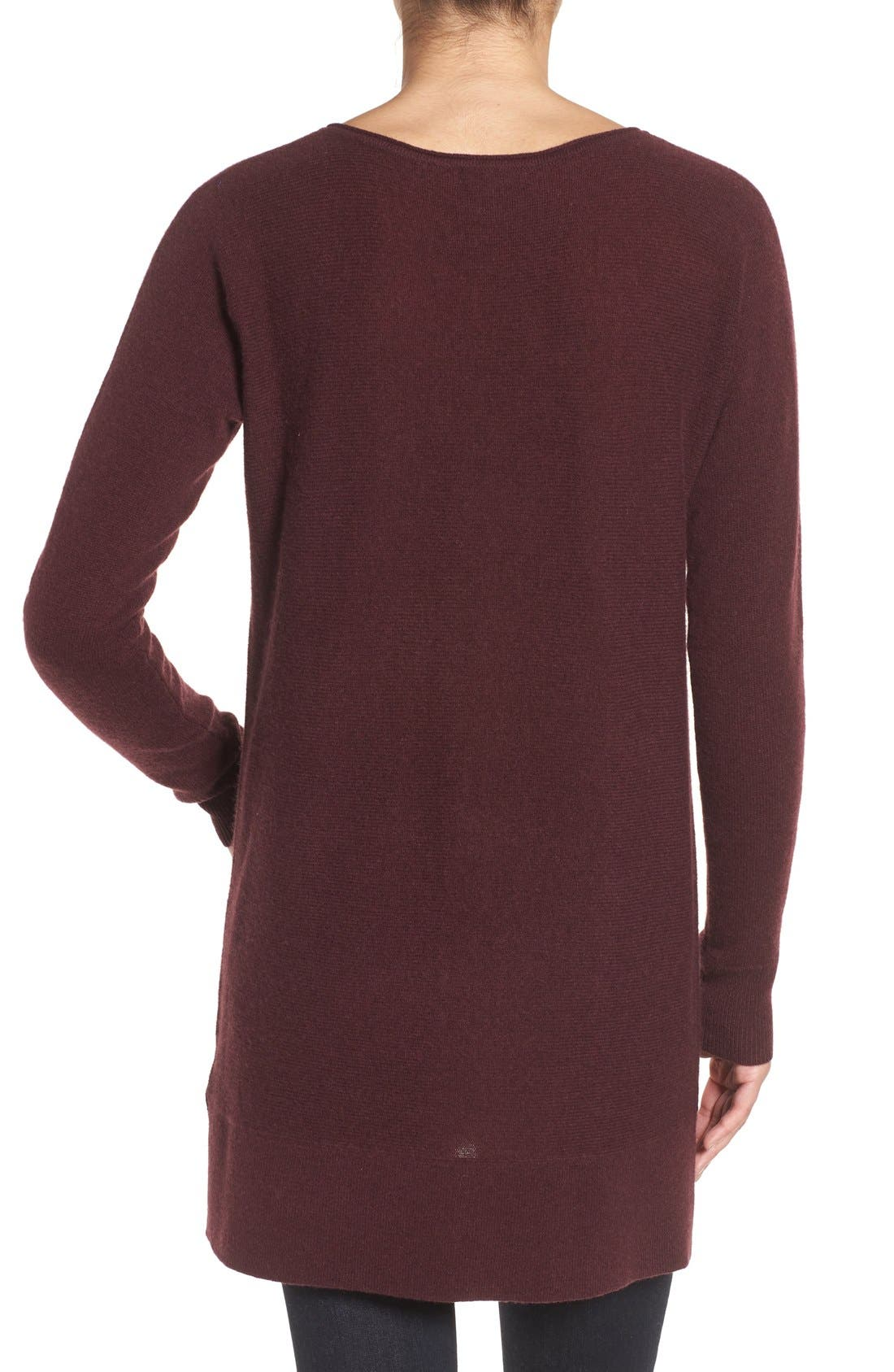High/Low Wool & Cashmere Tunic Sweater,                             Alternate thumbnail 111, color,