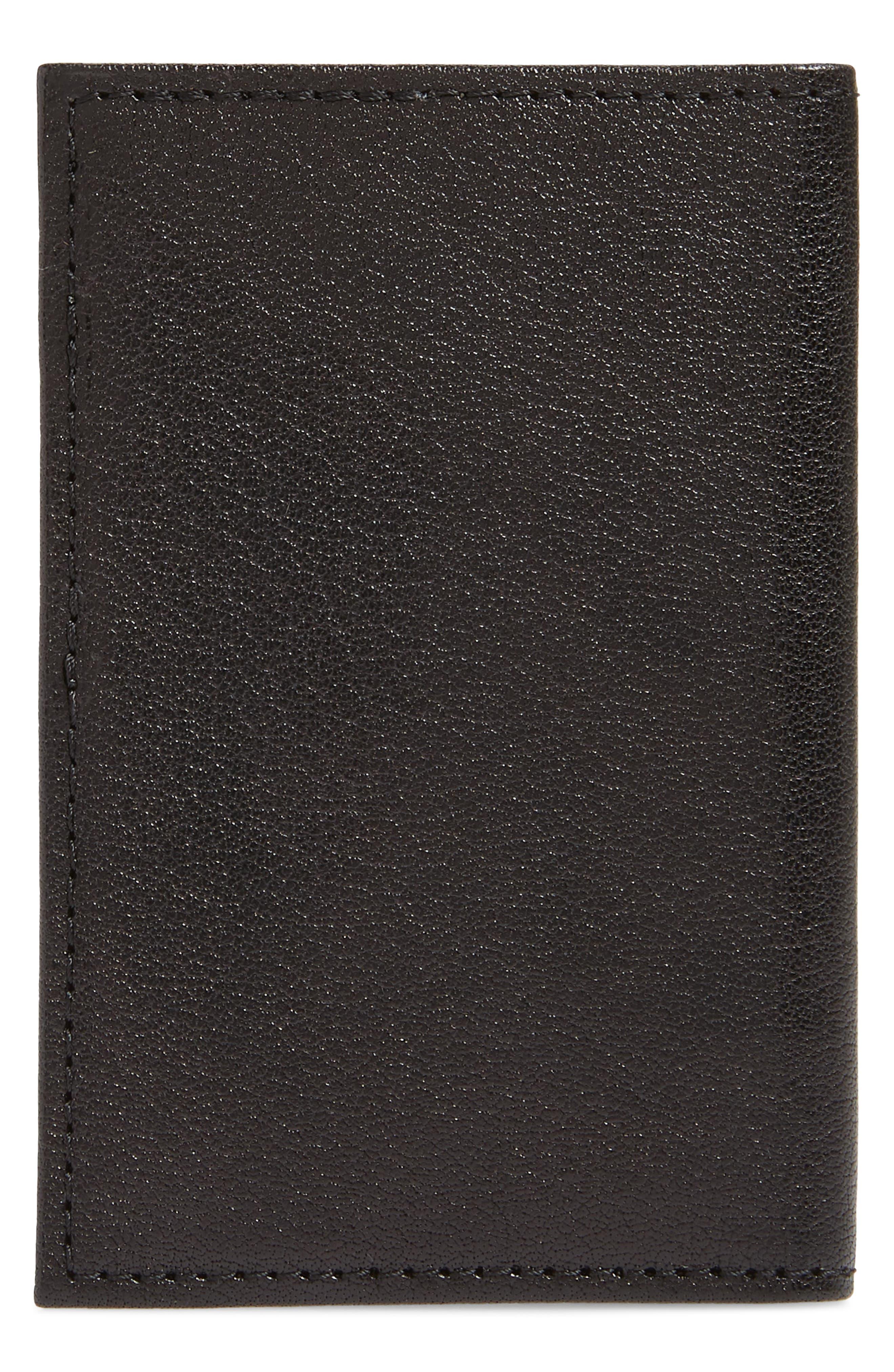 Landon Leather Flip Card Case,                             Alternate thumbnail 3, color,                             001