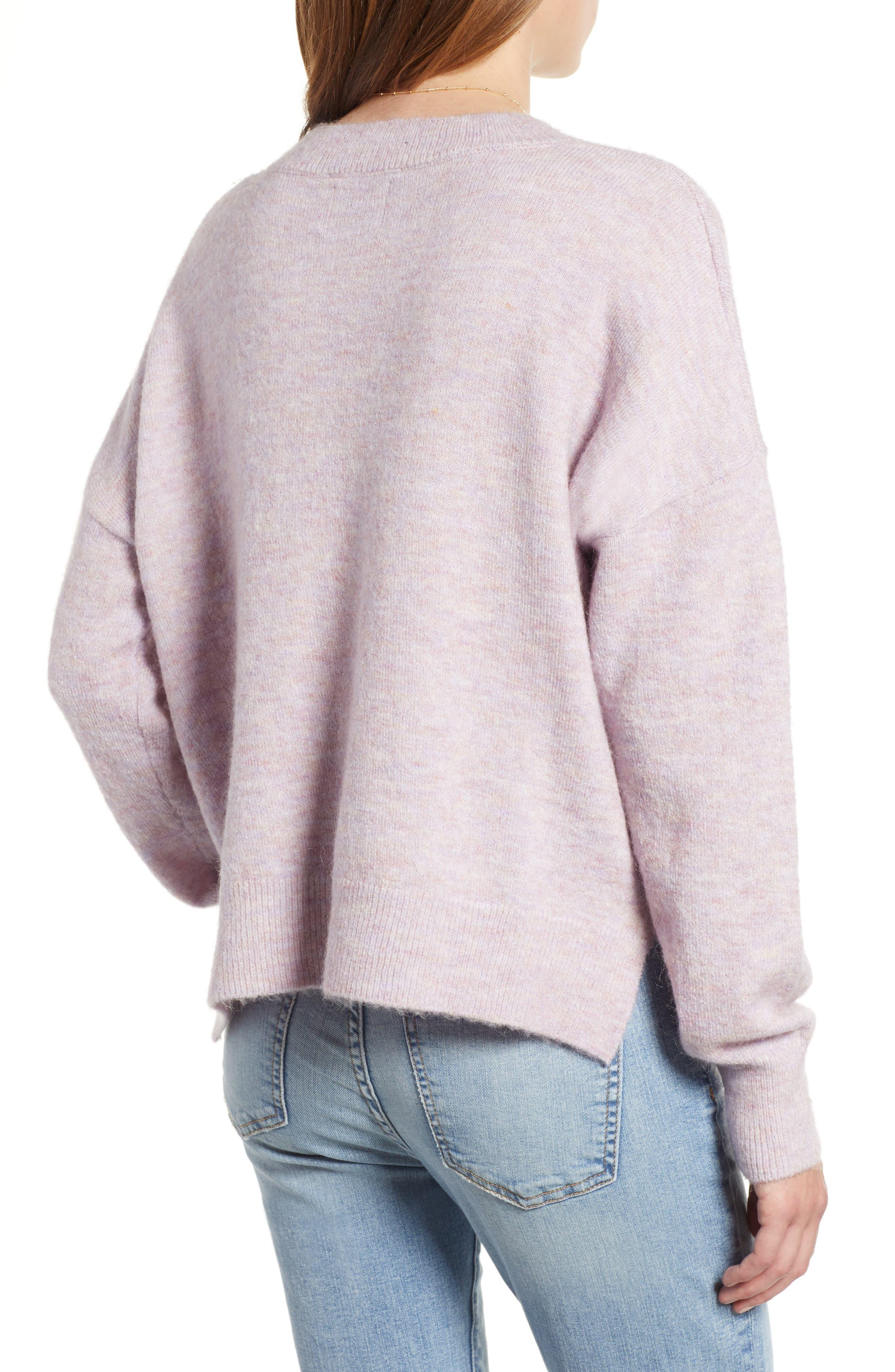 Crewneck Sweater,                             Alternate thumbnail 2, color,                             LILAC MELANGE