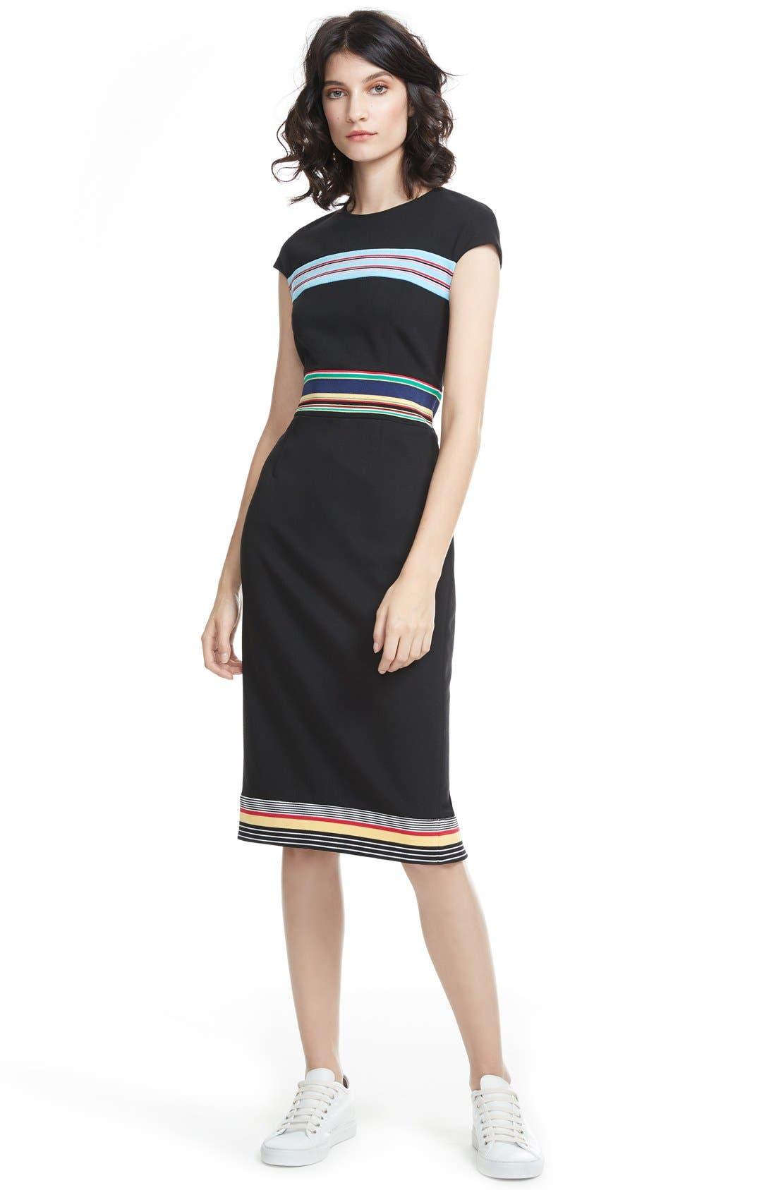 Hadlie Sheath Dress,                             Alternate thumbnail 4, color,                             001