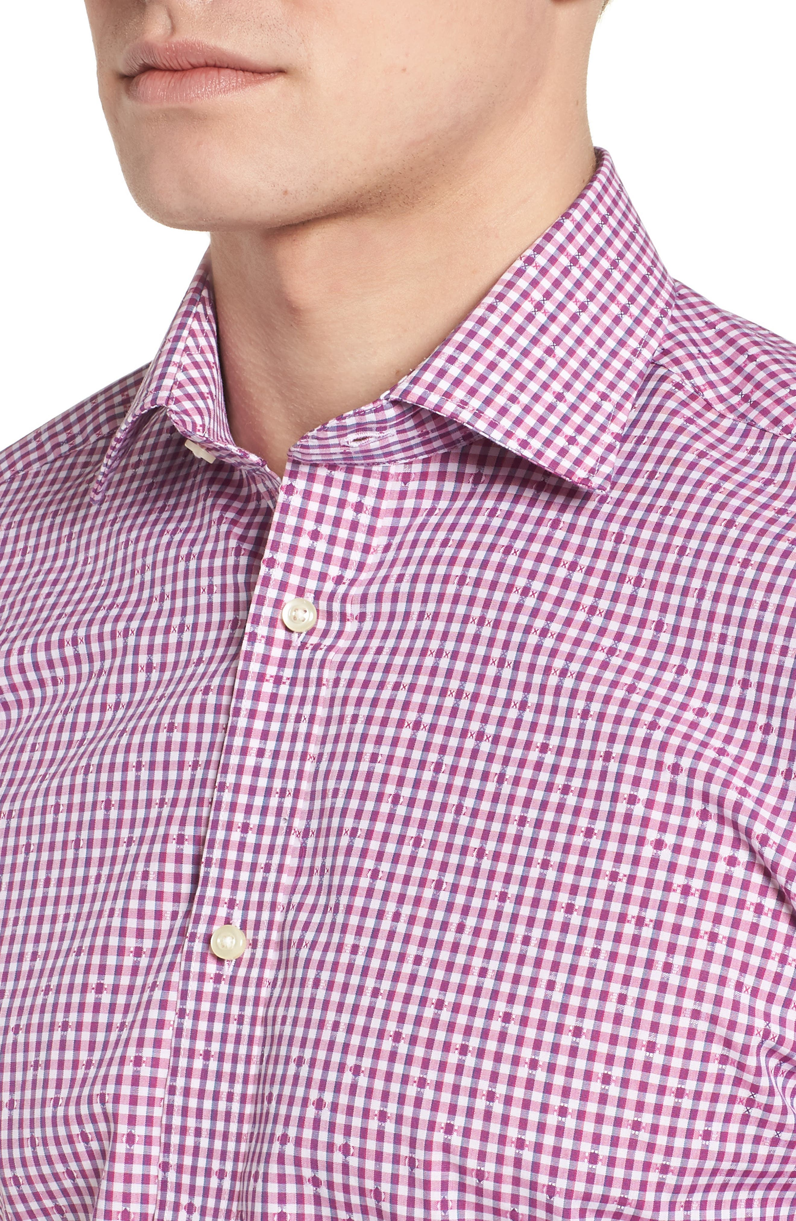 Mini Check Sport Shirt,                             Alternate thumbnail 8, color,