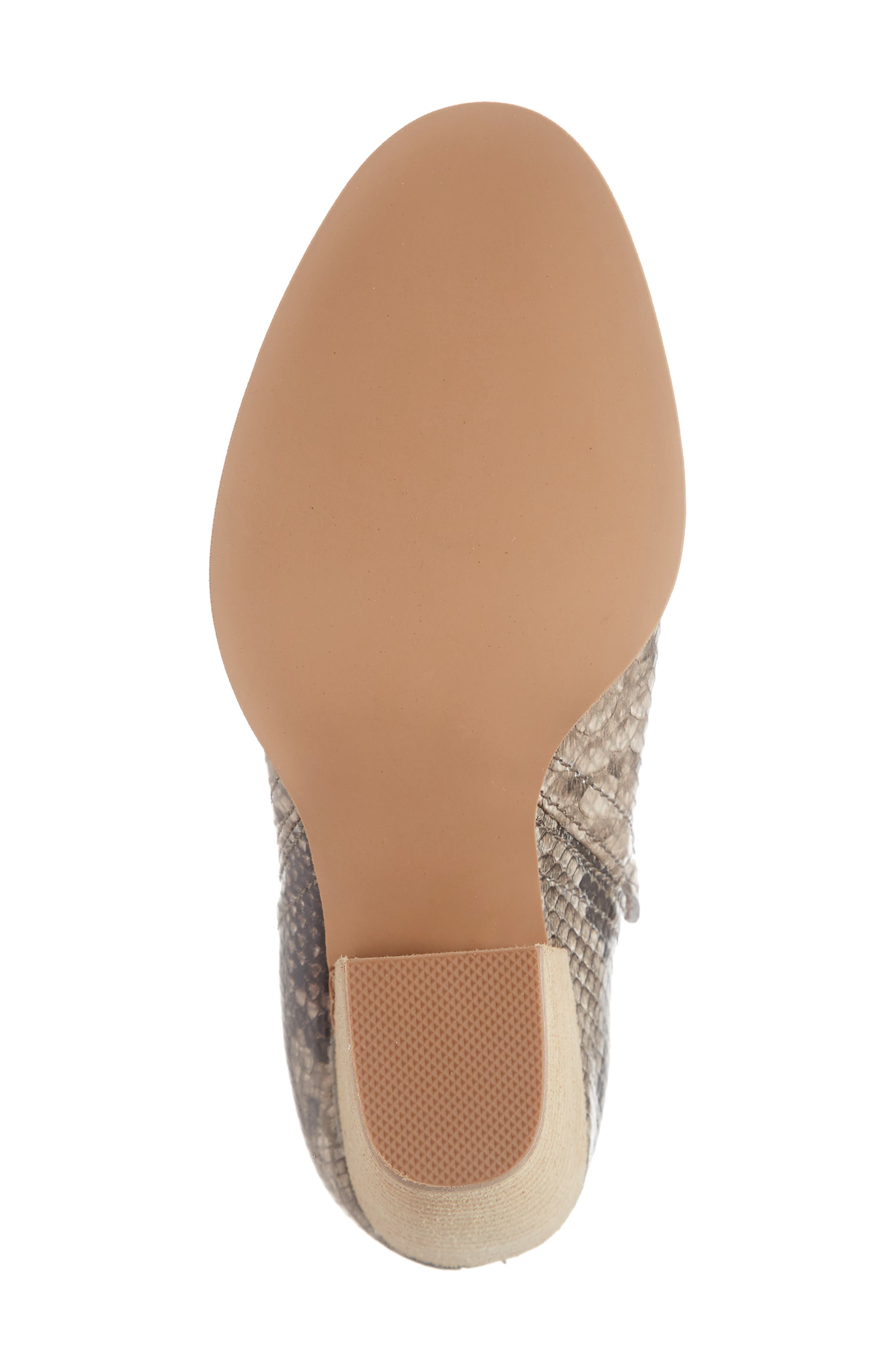 Rosalee Bootie,                             Alternate thumbnail 6, color,                             TAUPE SNAKE PRINT MULTI