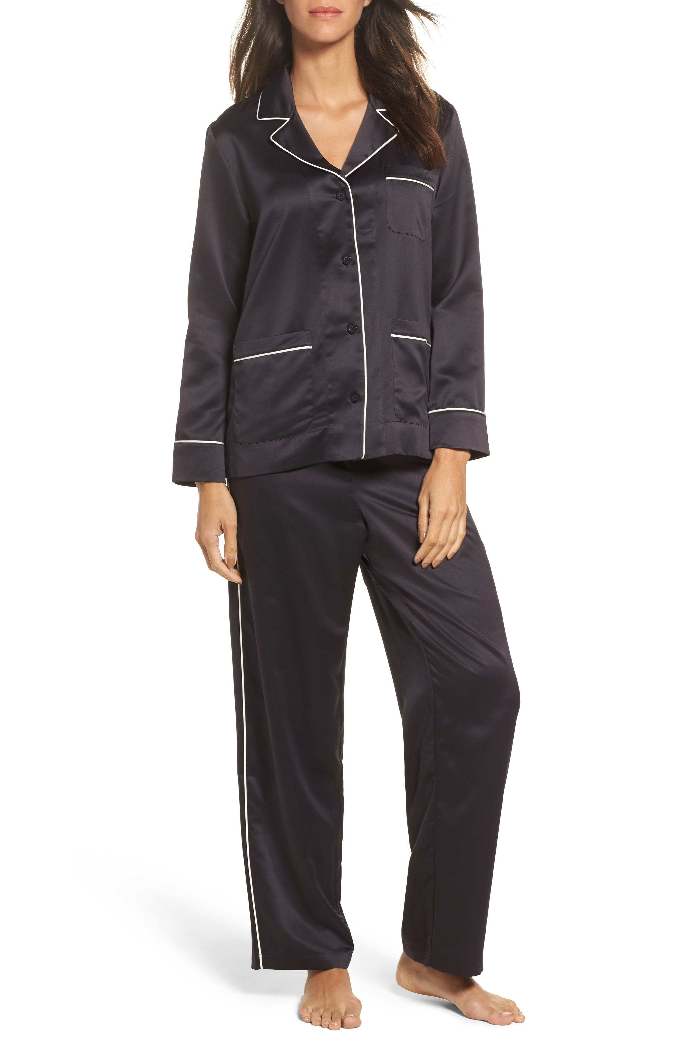 Sateen Pajamas,                         Main,                         color, 001