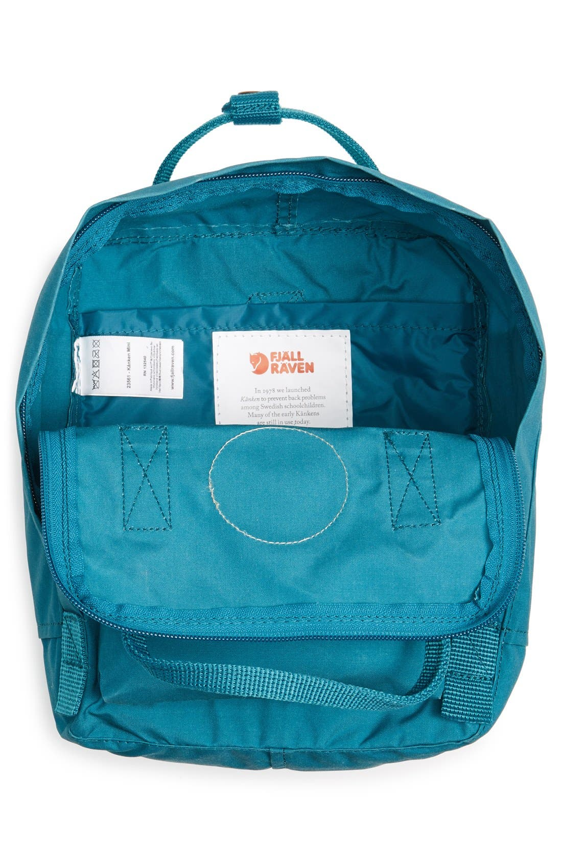'Mini Kånken' Water Resistant Backpack,                             Alternate thumbnail 3, color,                             OCEAN GREEN