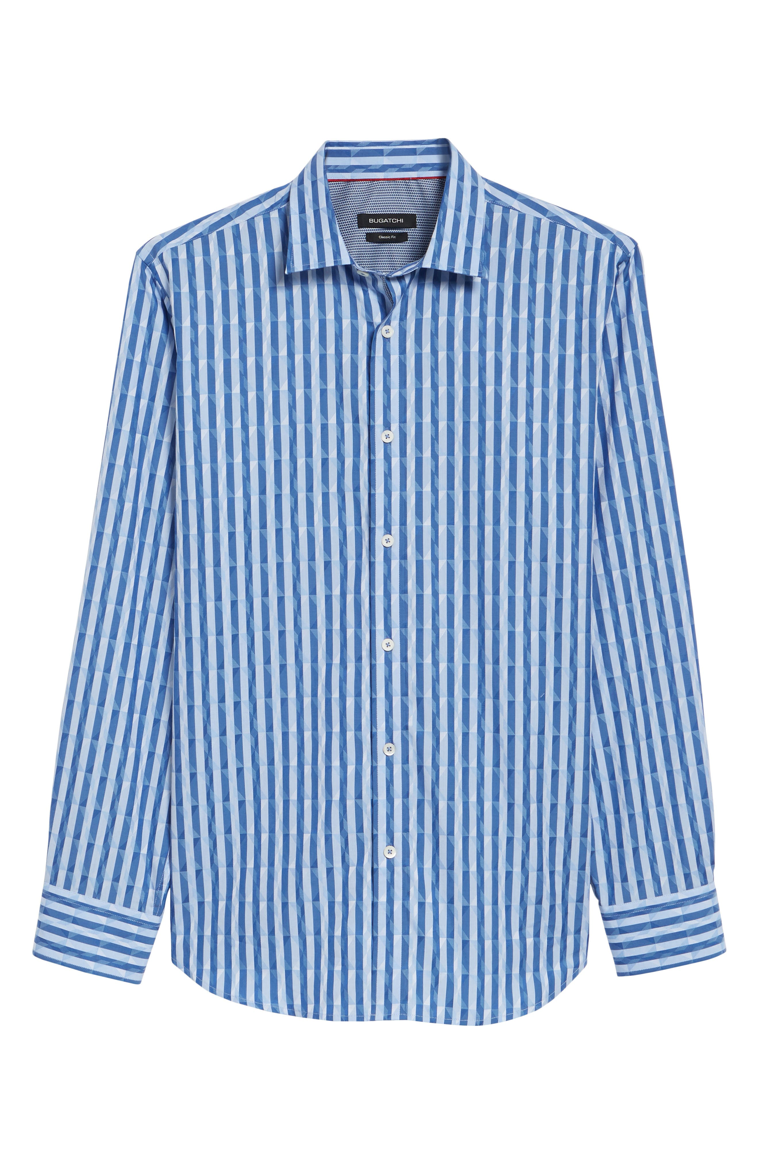 Candy Stripe Geometric Classic Fit Sport Shirt,                             Alternate thumbnail 6, color,                             422