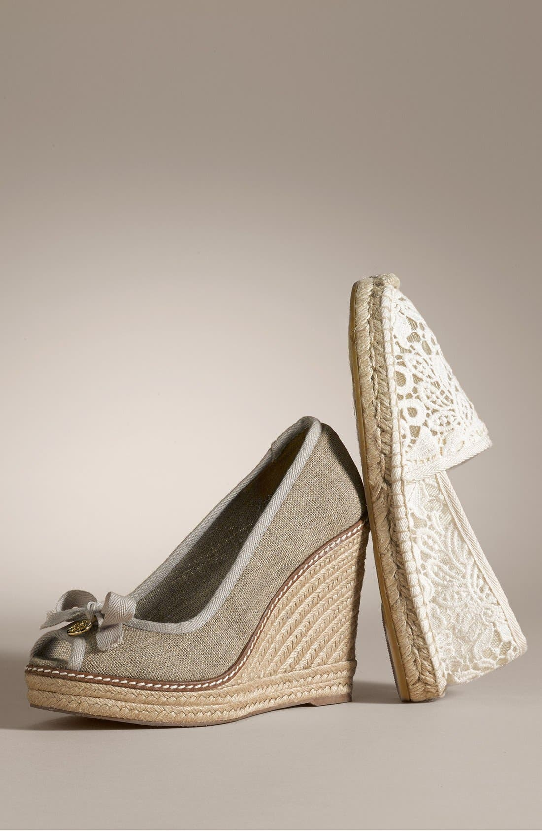 TORY BURCH,                             'Abbe' Espadrille,                             Alternate thumbnail 5, color,                             001
