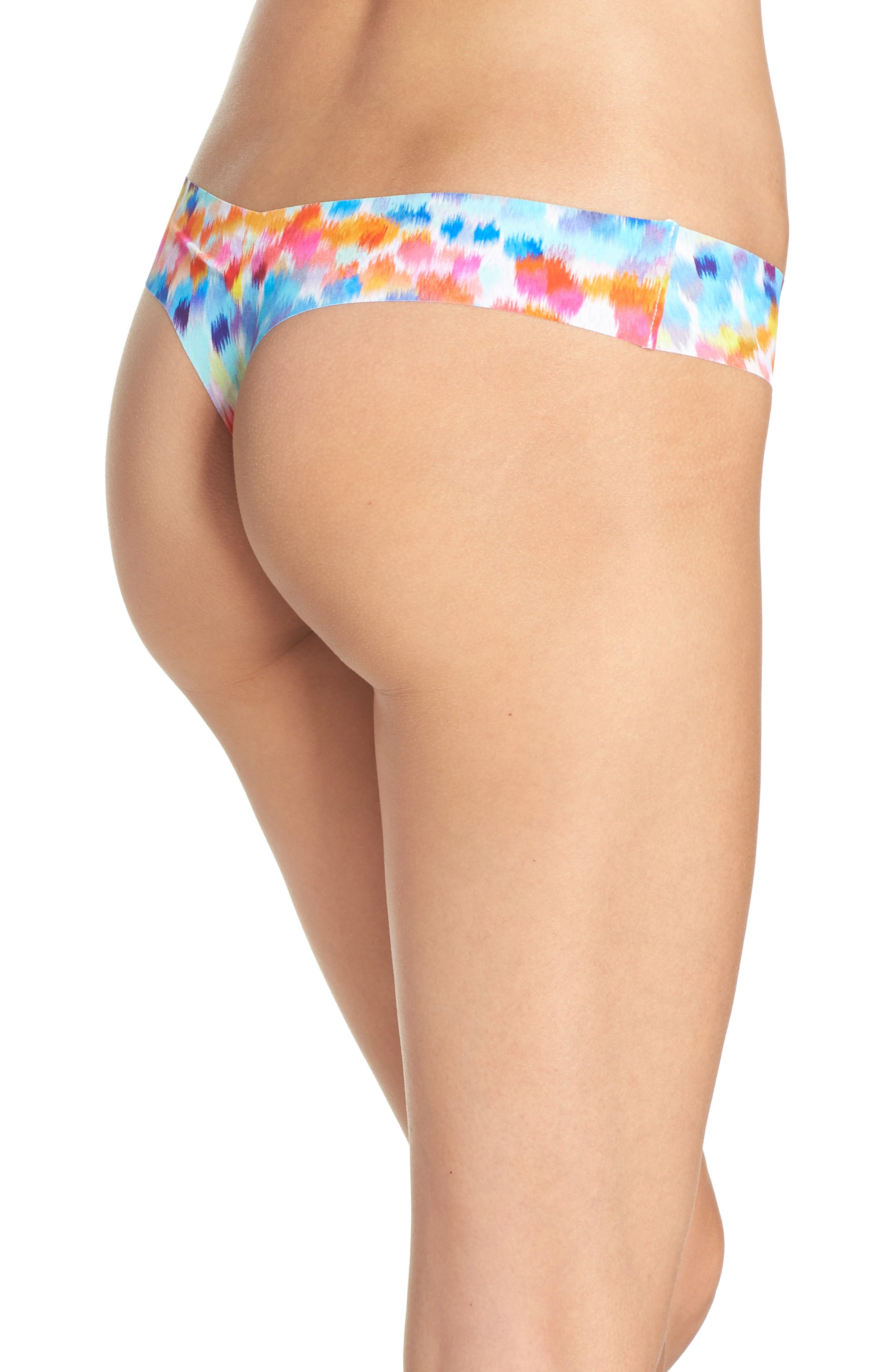 Print Microfiber Thong,                             Alternate thumbnail 179, color,