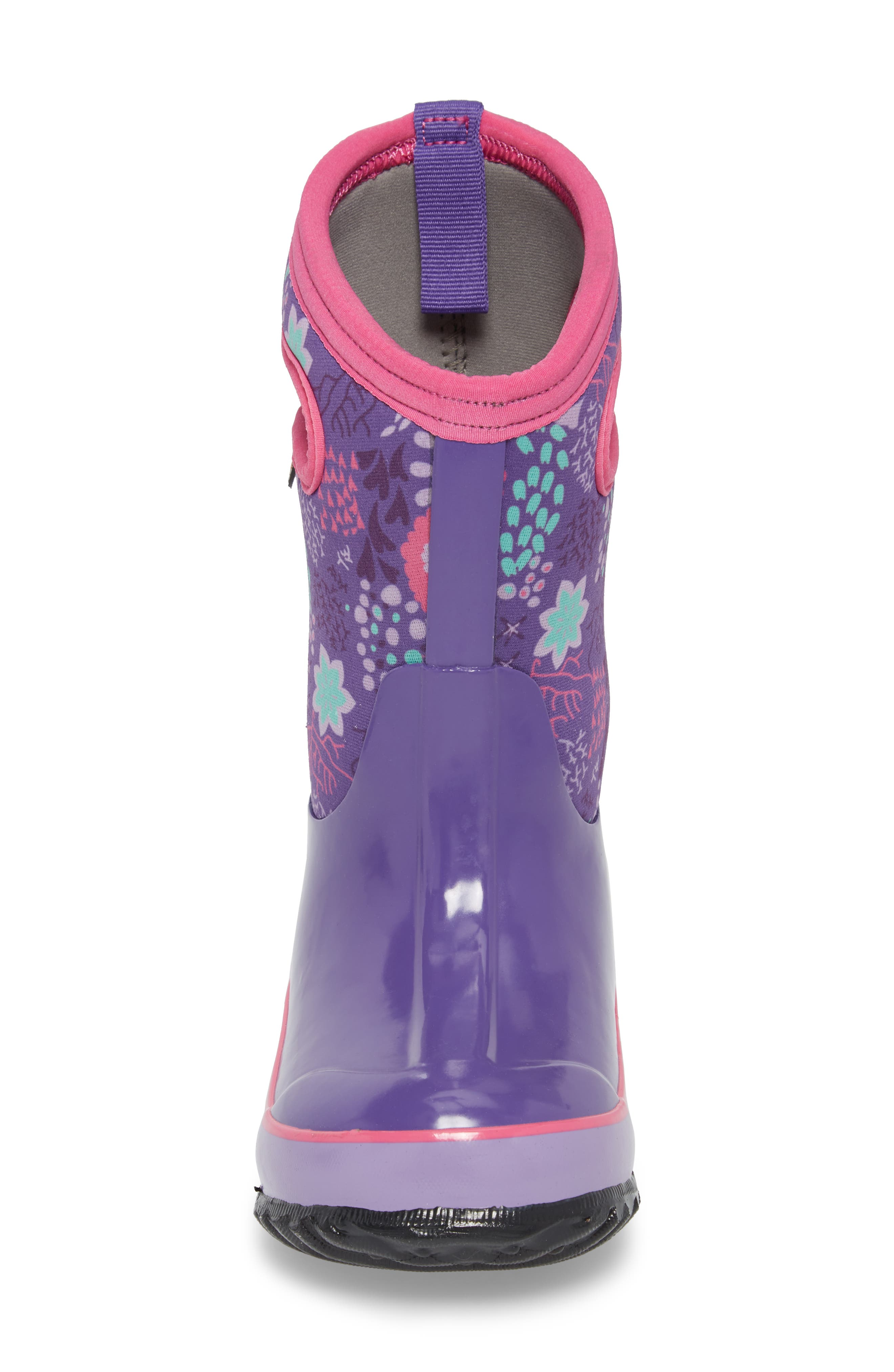 BOGS,                             Classic Reef Insulated Print Waterproof Boot,                             Alternate thumbnail 4, color,                             540