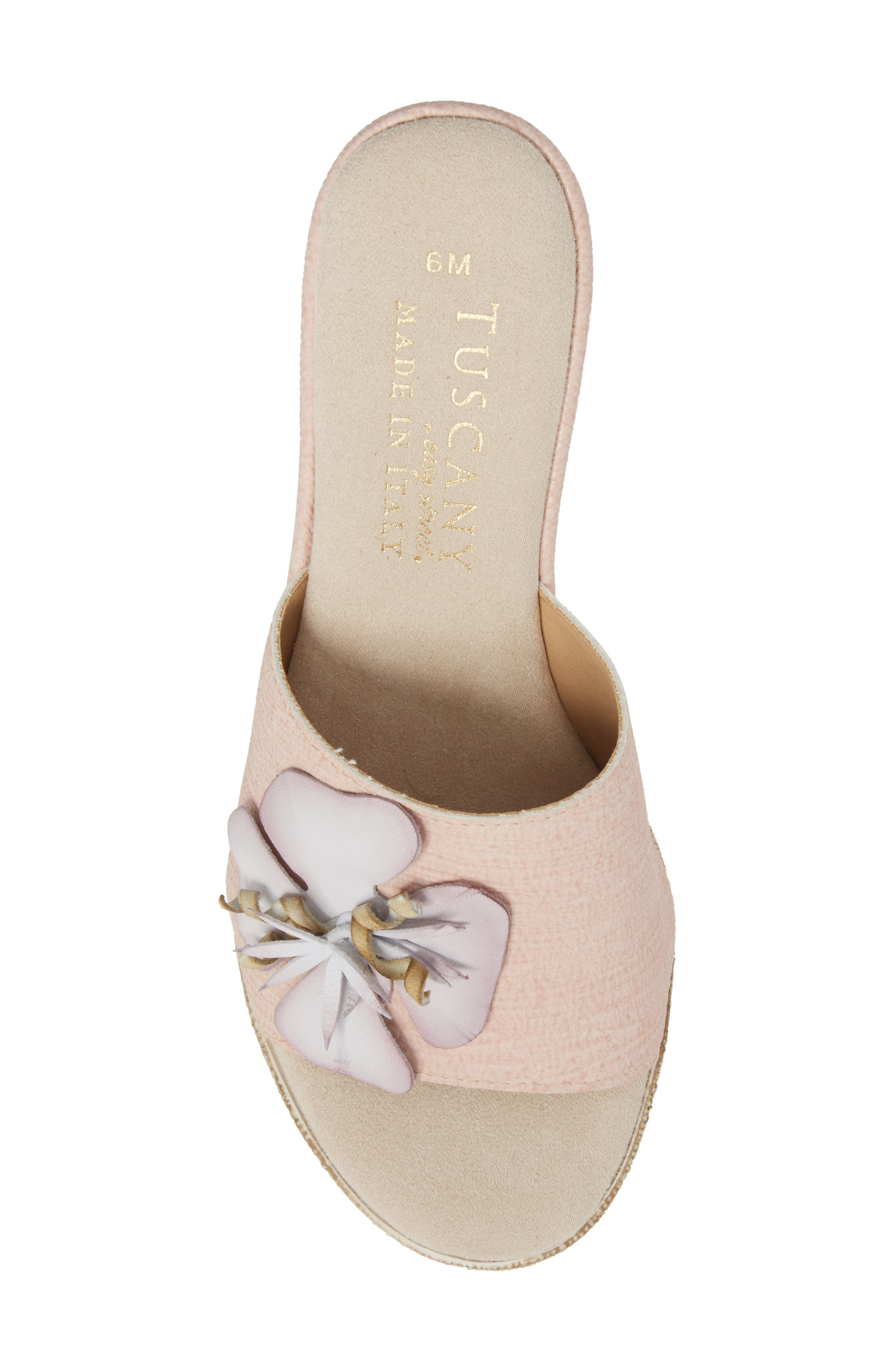 by Easy Street<sup>®</sup> Castello Wedge Slide,                             Alternate thumbnail 5, color,                             BLUSH FAUX LEATHER