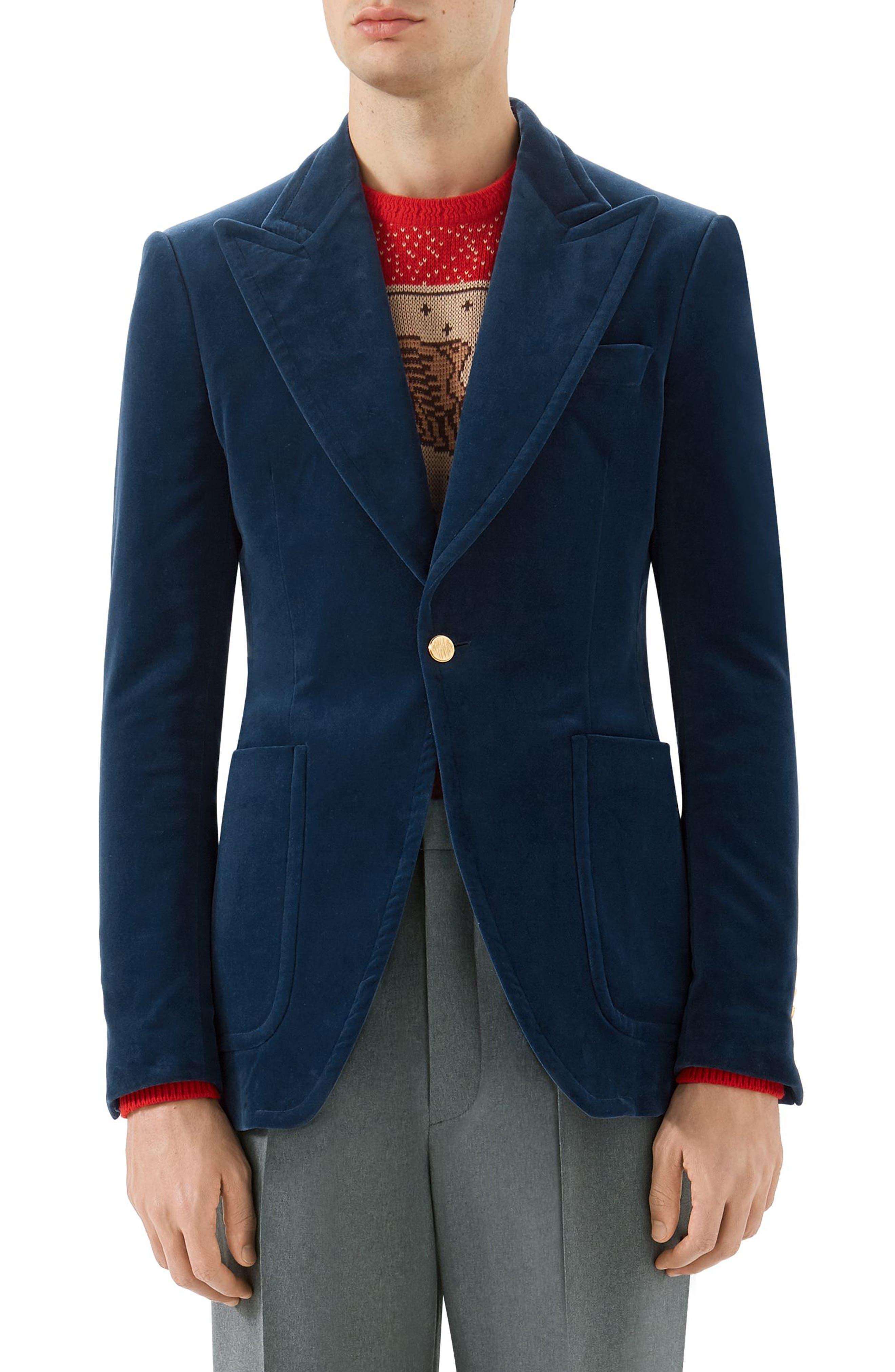 Velvet Dinner Jacket,                         Main,                         color, ROYAL