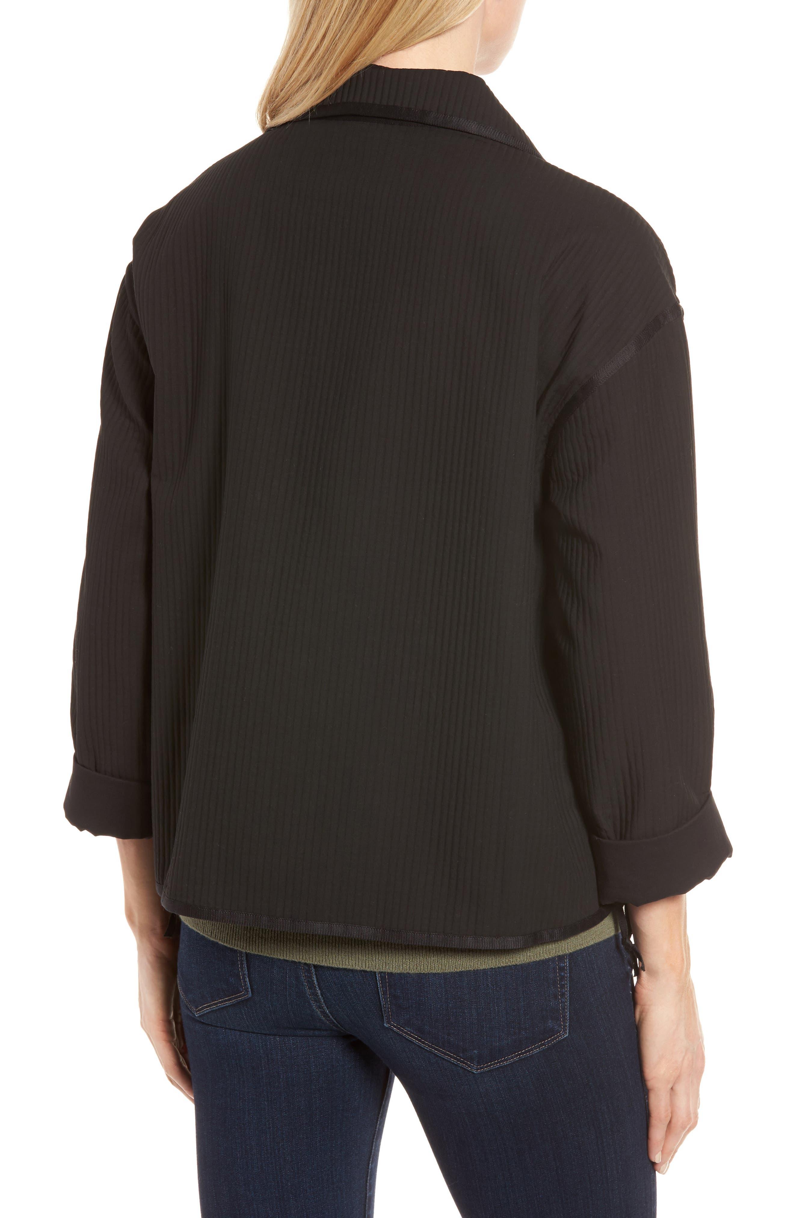 Ottoman Knit Jacket,                             Alternate thumbnail 2, color,                             001