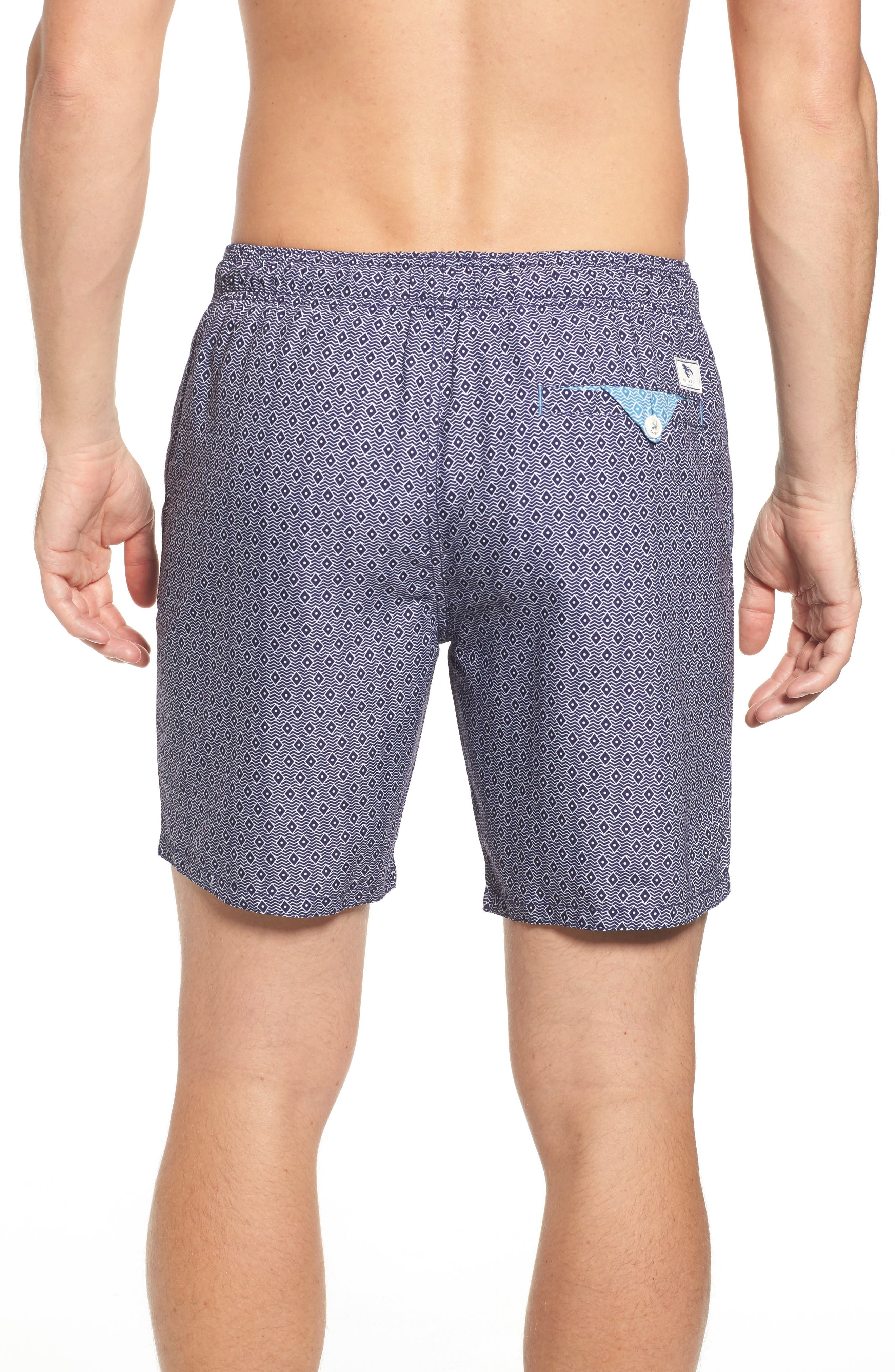 Seada Diamond Print Swim Shorts,                             Alternate thumbnail 2, color,                             410