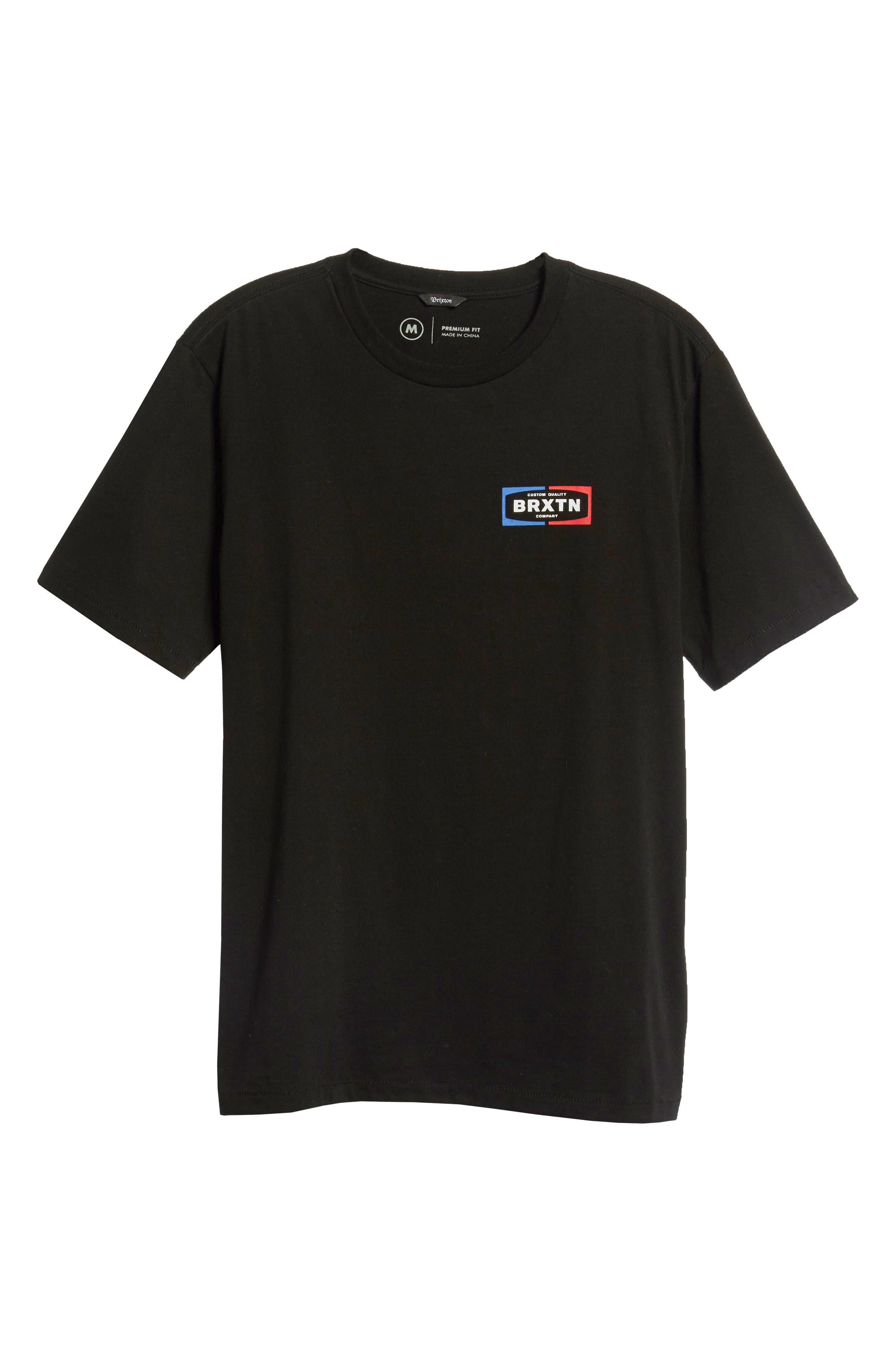 Dozer Logo T-Shirt,                             Alternate thumbnail 6, color,                             BLACK