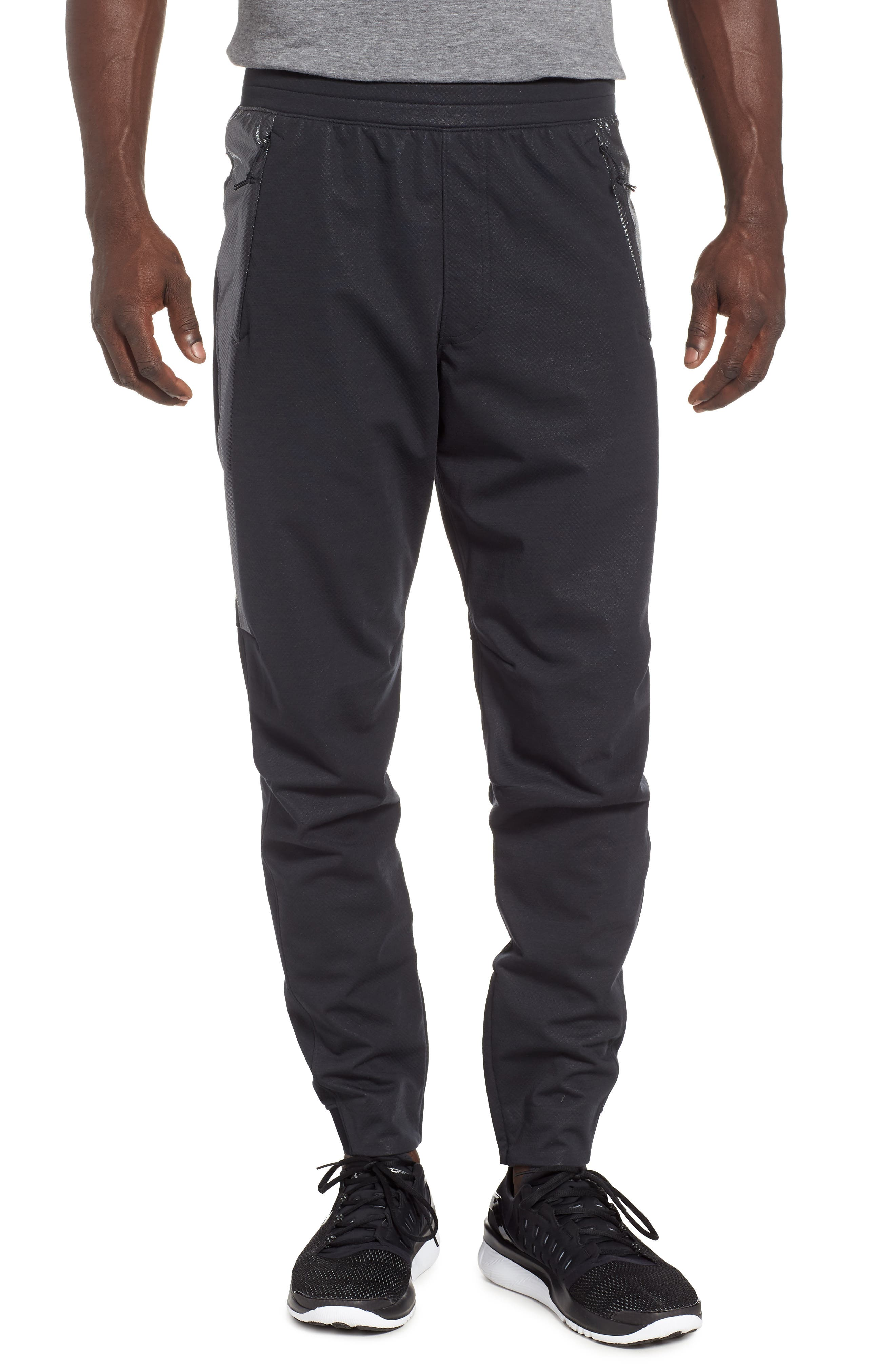 Unstoppable Swacket Training Pants,                         Main,                         color, BLACK FULL HEATHER/ BLACK