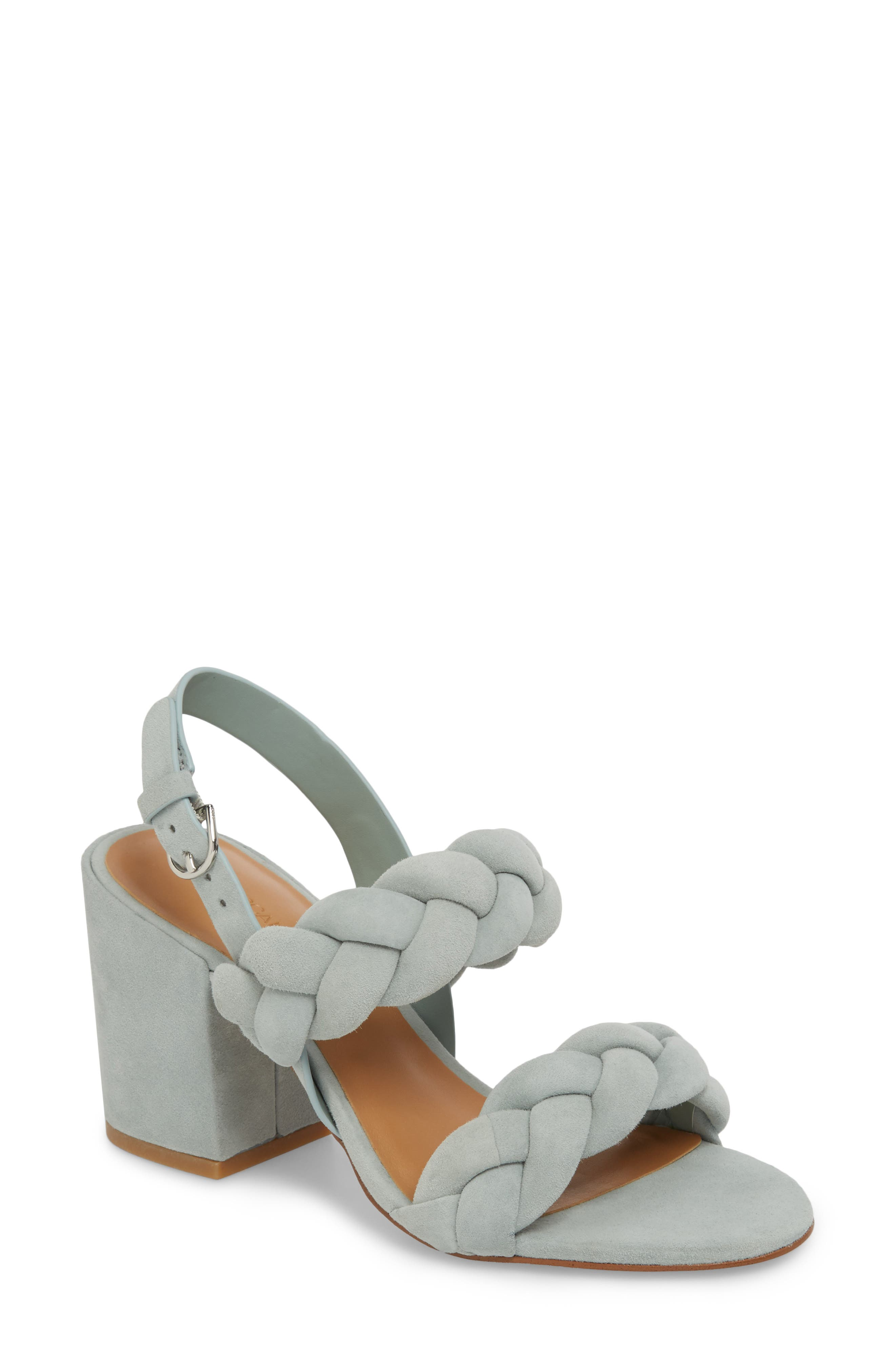 Rebecca Minkoff Candance Block Heel Sandal, Green