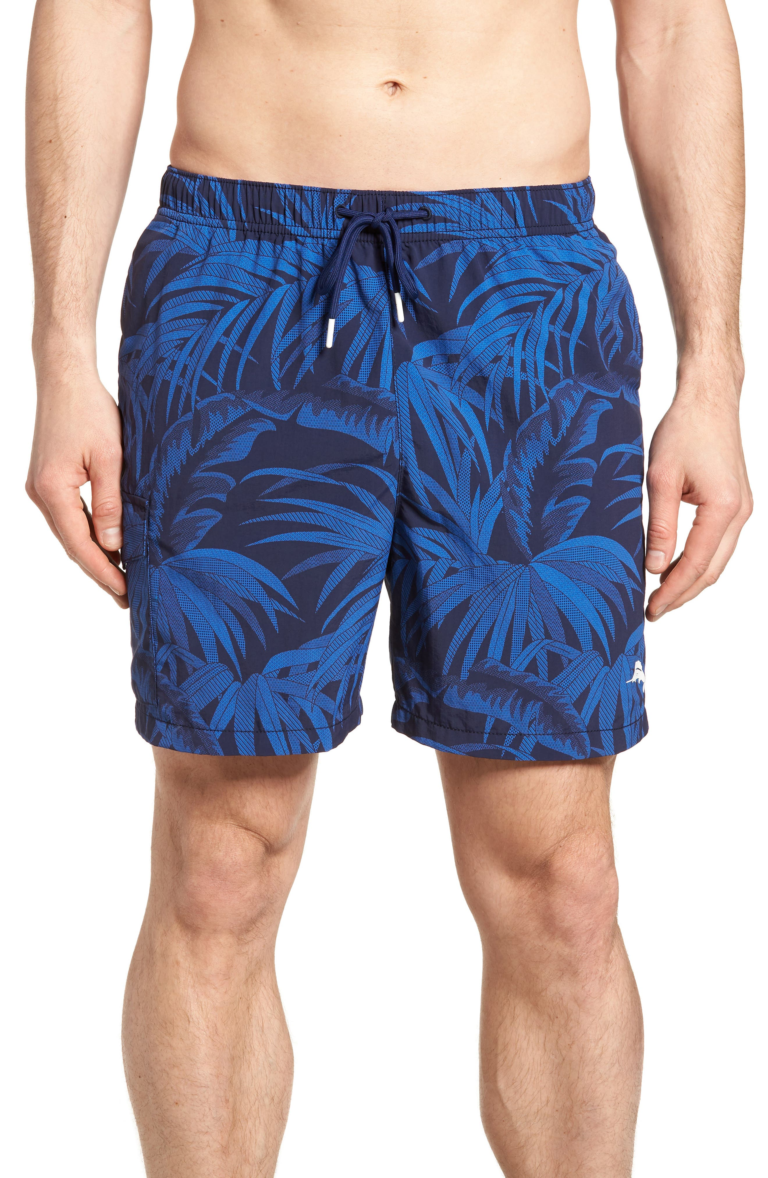 Naples Midnight Flora Swim Trunks,                             Main thumbnail 1, color,                             400