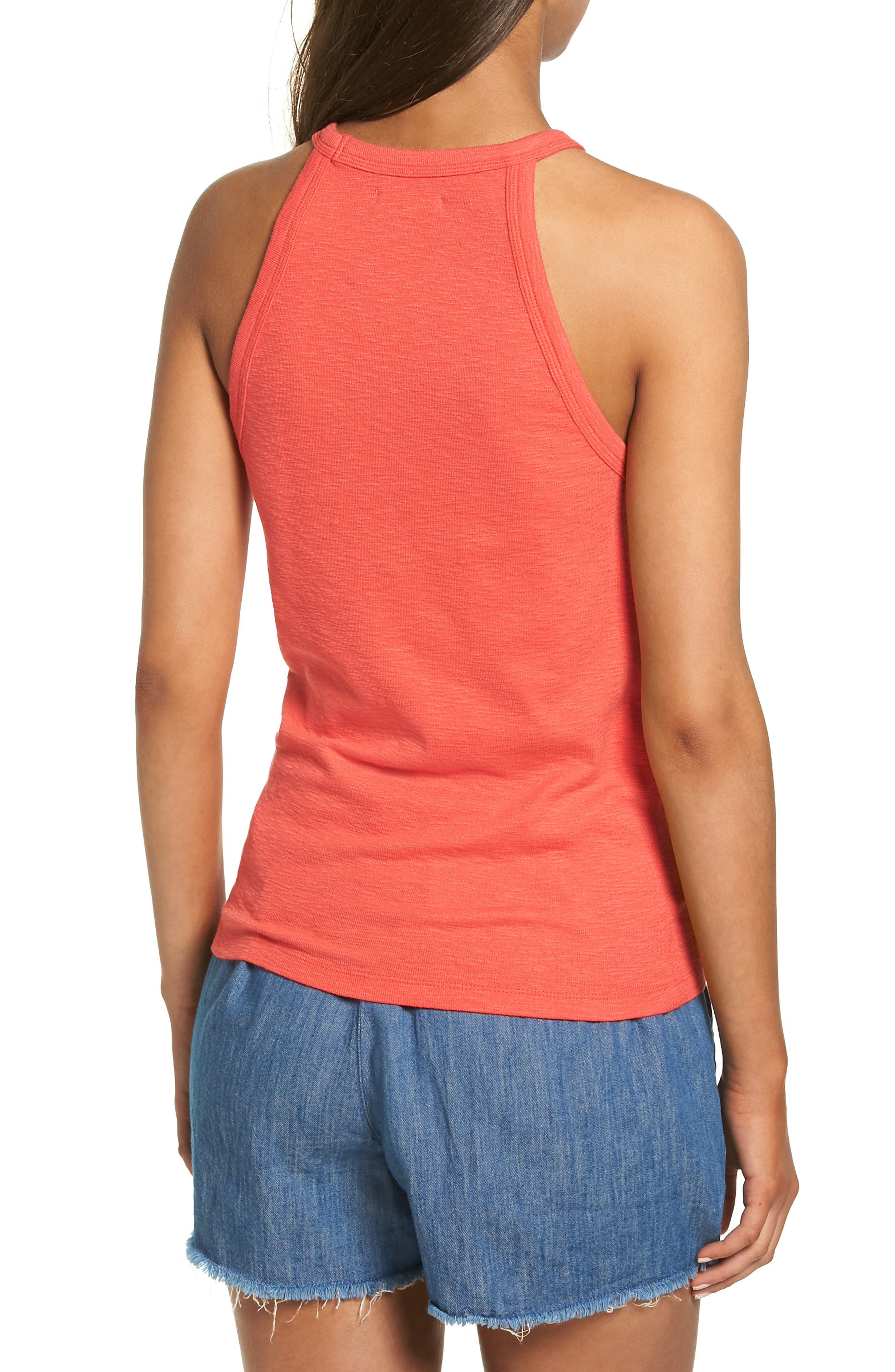 Timeoff High Neck Tank,                             Alternate thumbnail 6, color,