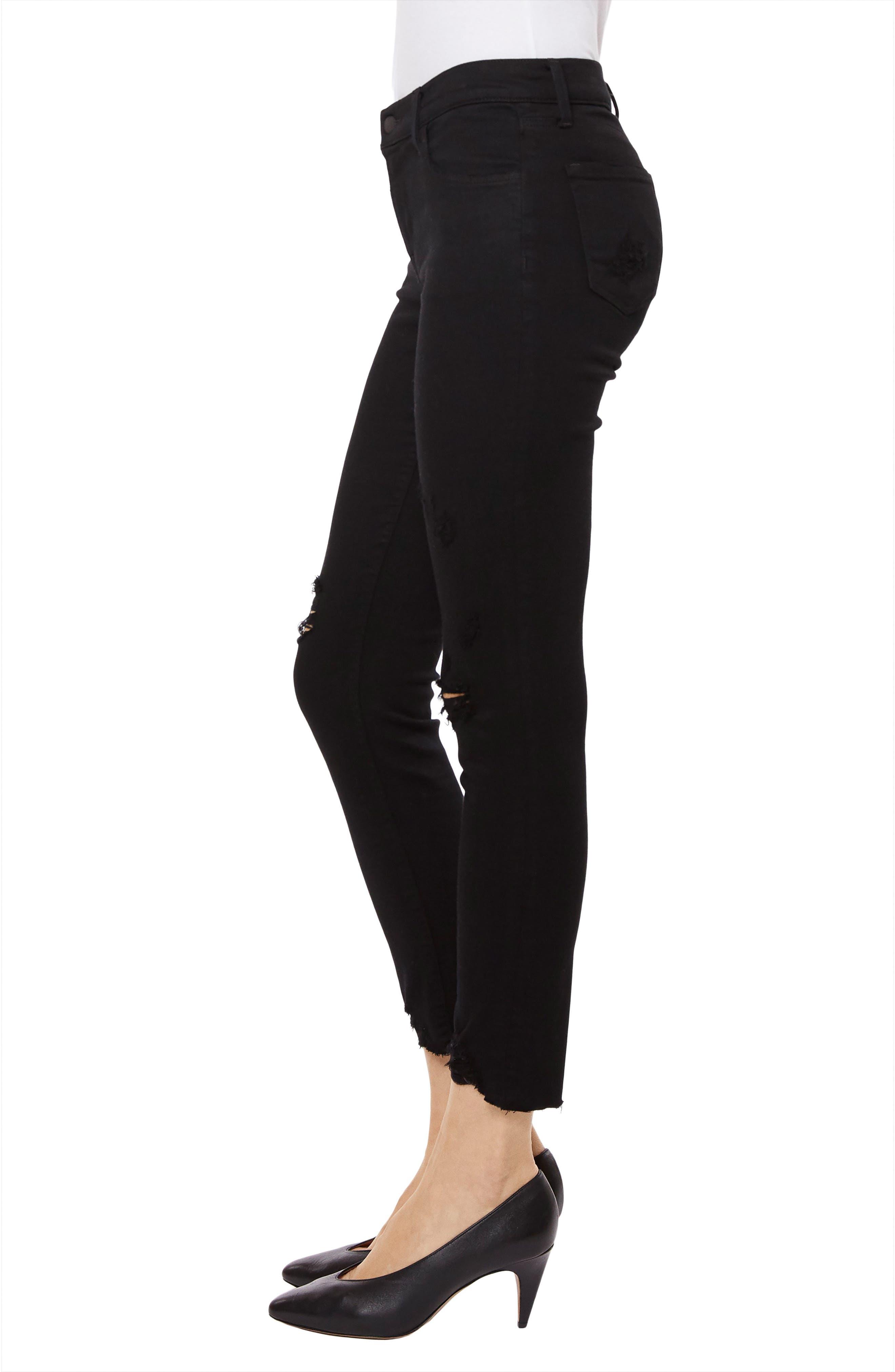 835 Capri Skinny Jeans,                             Alternate thumbnail 3, color,                             OVEREXPOSURE
