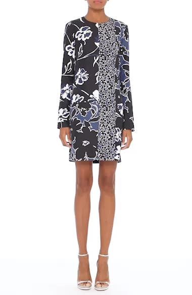 Floral Dupioni Silk Shift Dress, video thumbnail