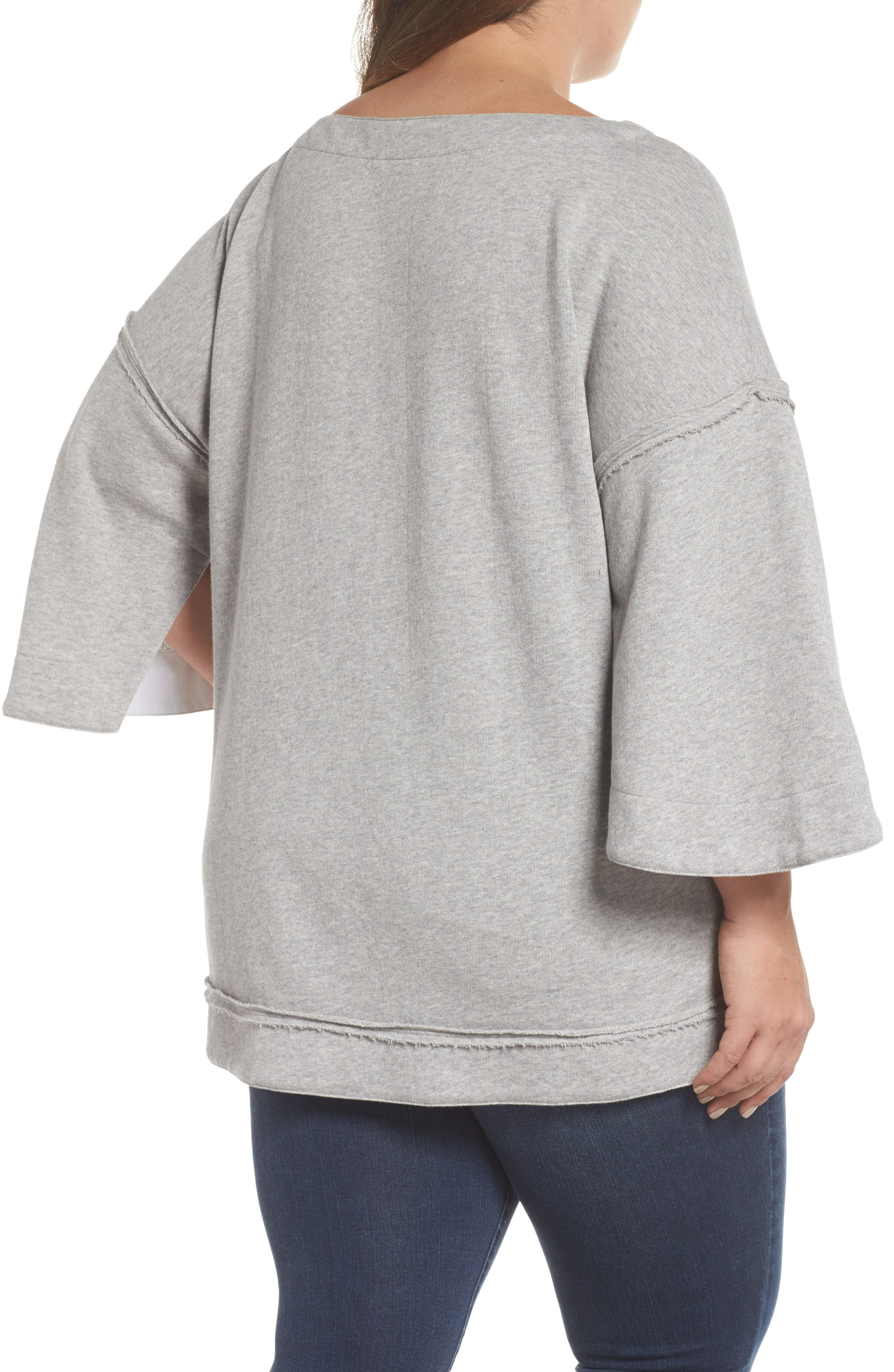 Split Sleeve Sweatshirt,                             Alternate thumbnail 4, color,