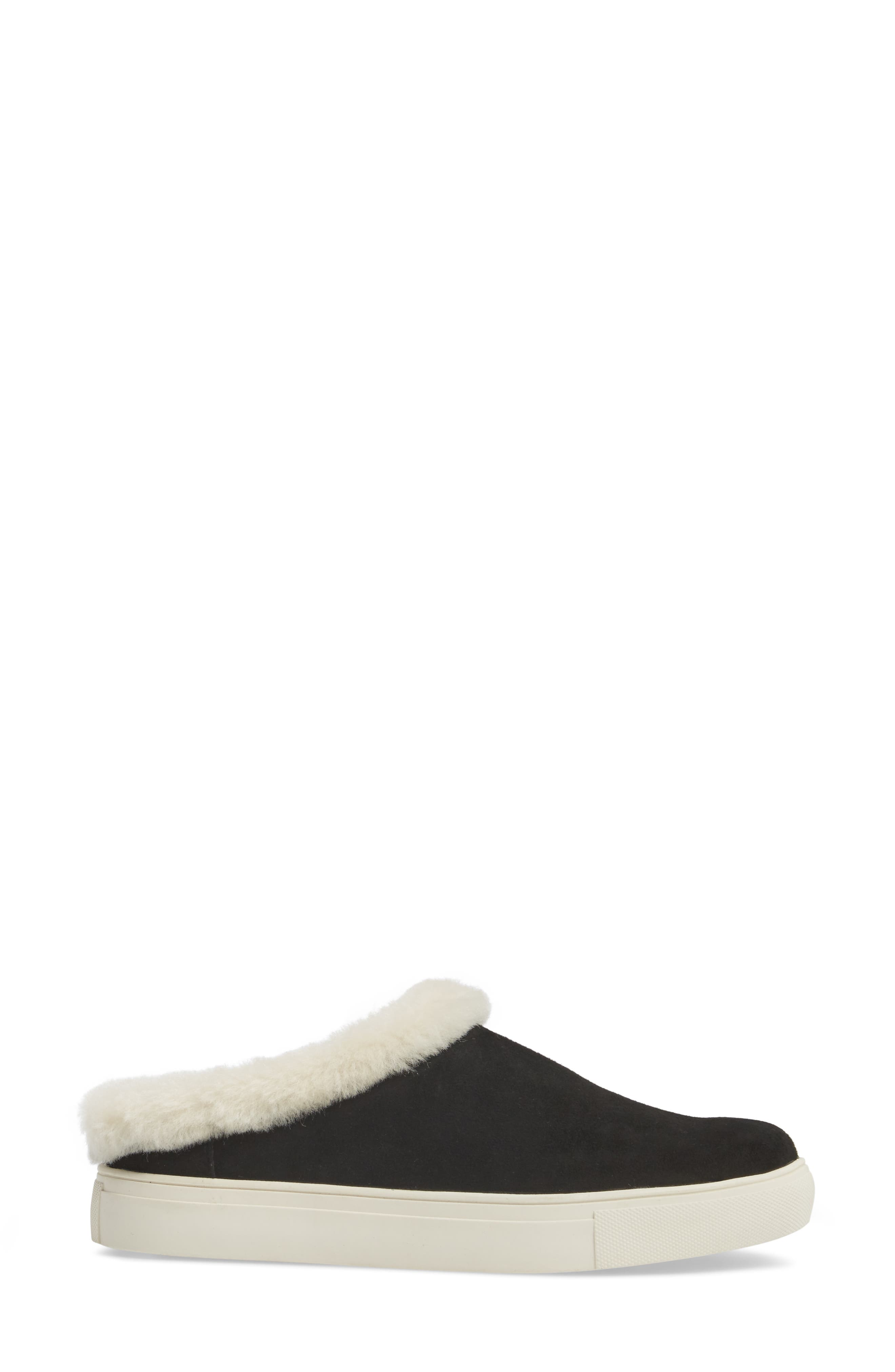 Leia Genuine Shearling Lined Slip-On,                             Alternate thumbnail 3, color,                             001