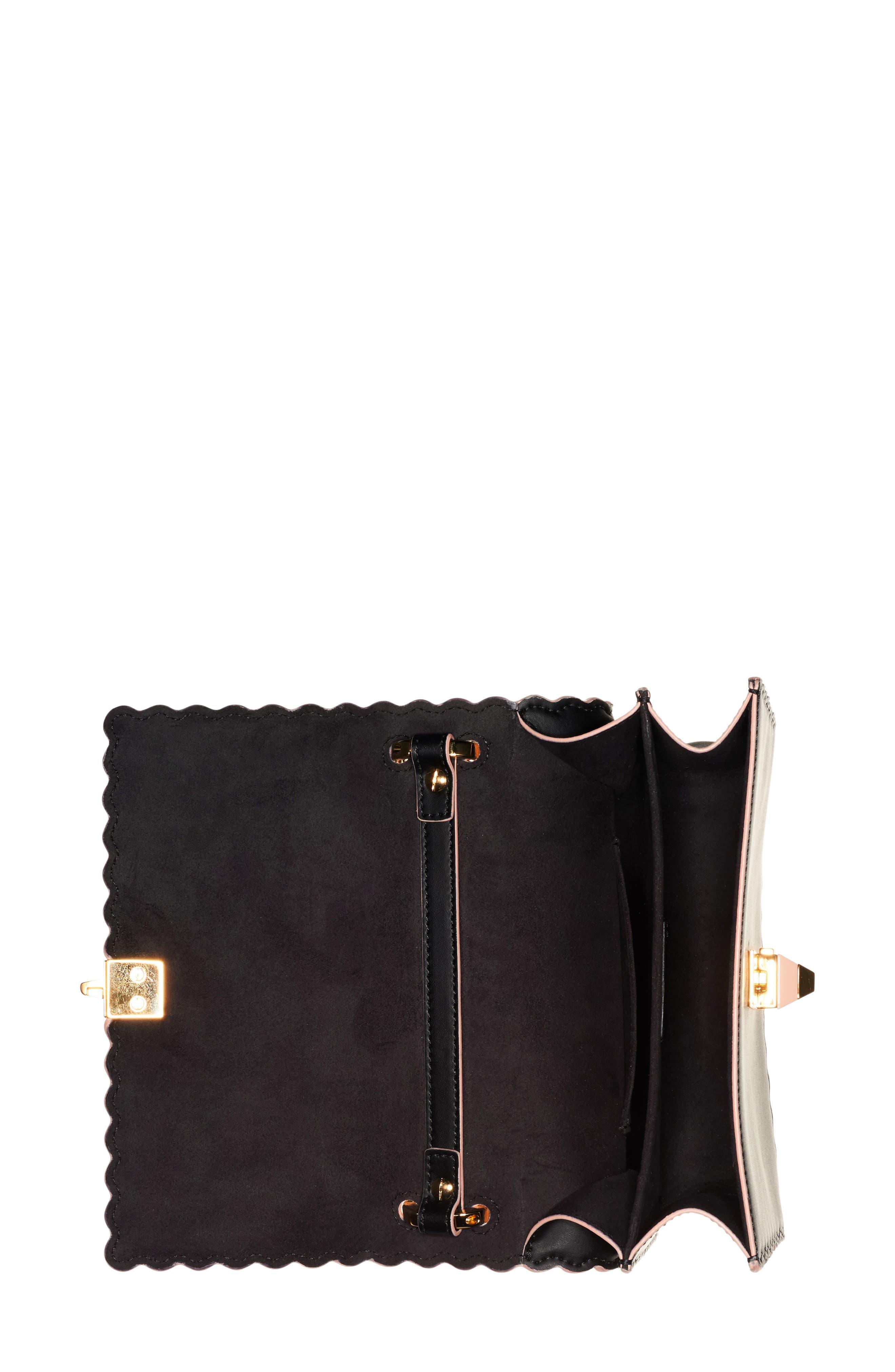 Small Kan I Scallop Leather Shoulder Bag,                             Alternate thumbnail 6, color,