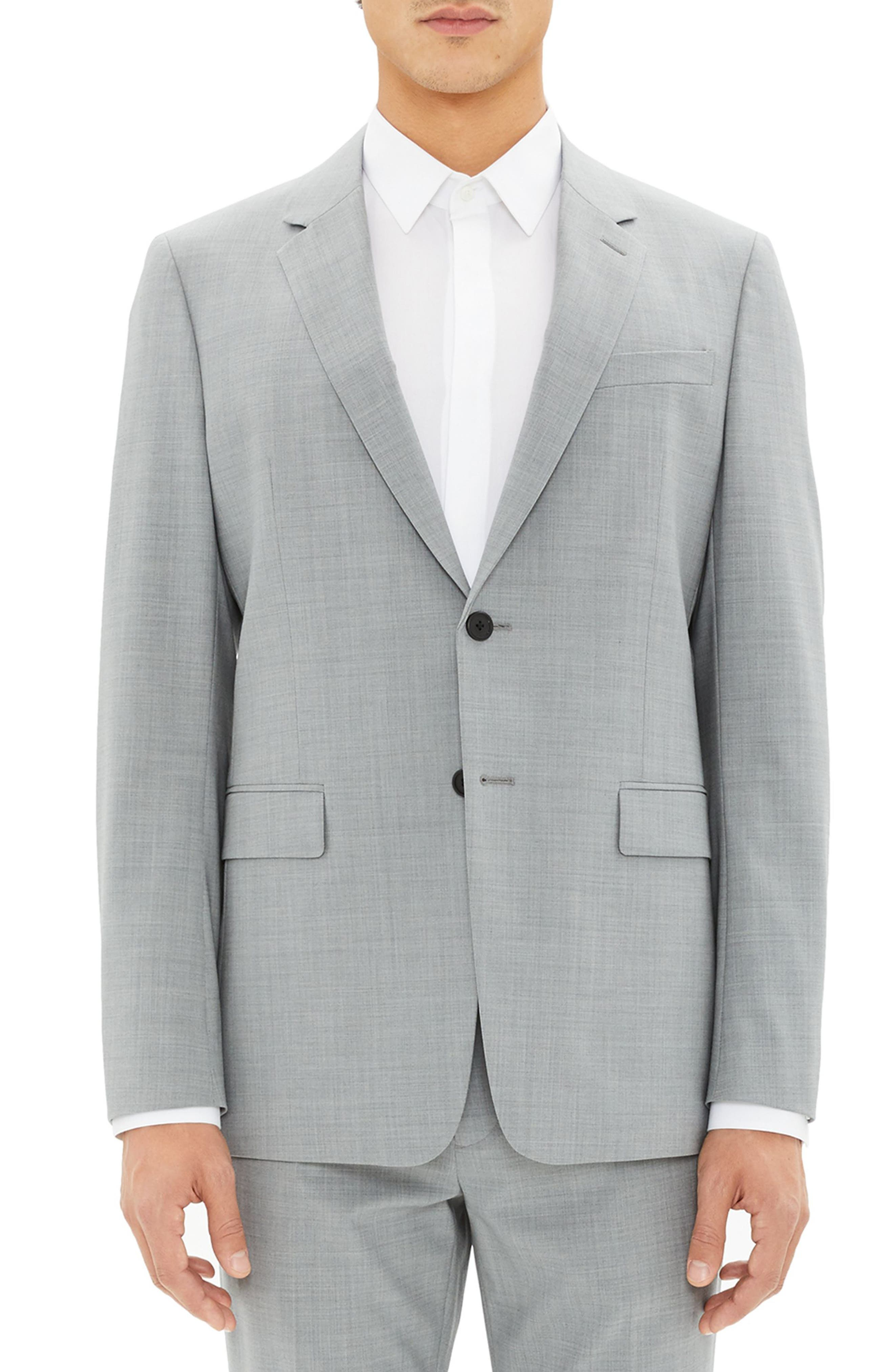 New Tailor Chambers Blazer,                             Main thumbnail 1, color,                             CHROME MELANGE