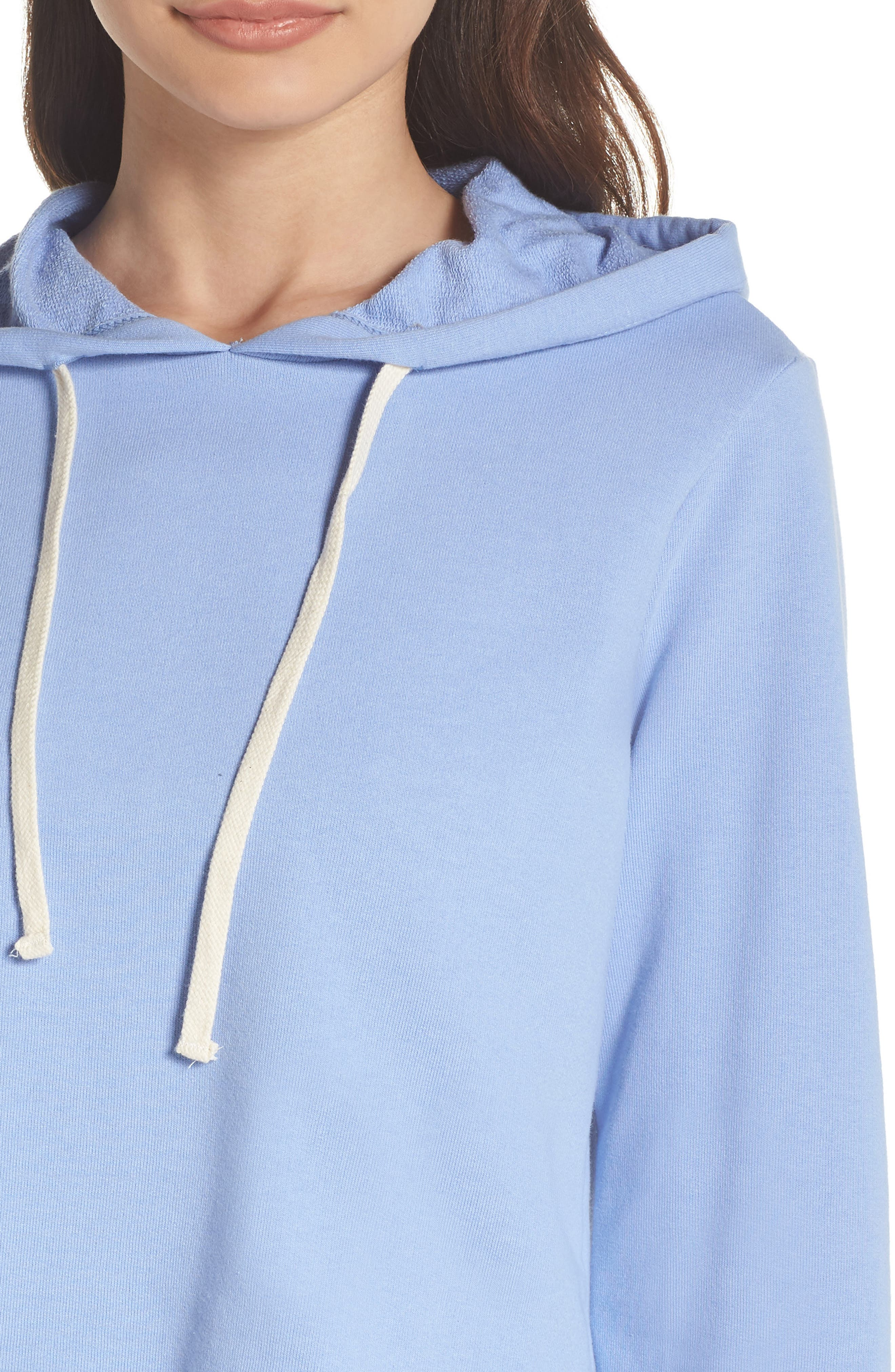 Cropped Terry Hoodie,                             Alternate thumbnail 8, color,