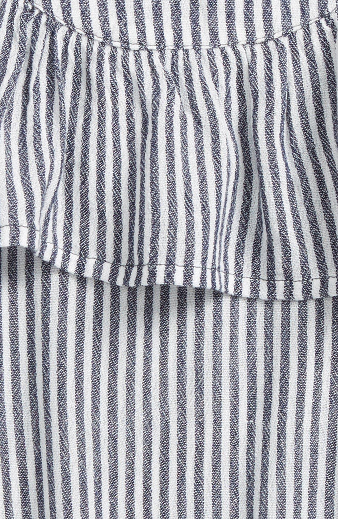 Myla Stripe Cold Shoulder Cover-Up Dress,                             Alternate thumbnail 2, color,                             WASHED INDIGO