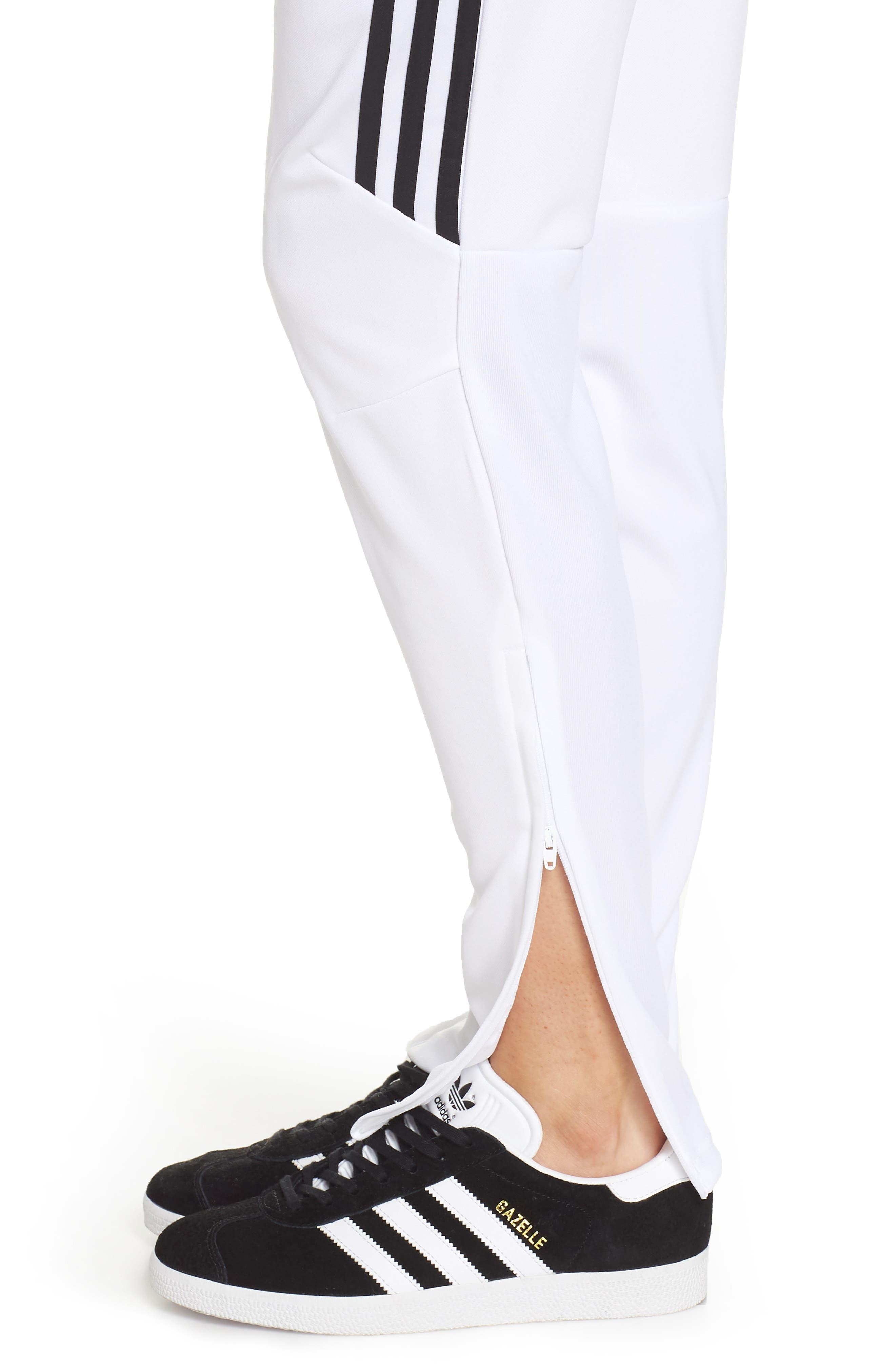 Tiro 17 Training Pants,                             Alternate thumbnail 4, color,                             WHITE/ BLACK