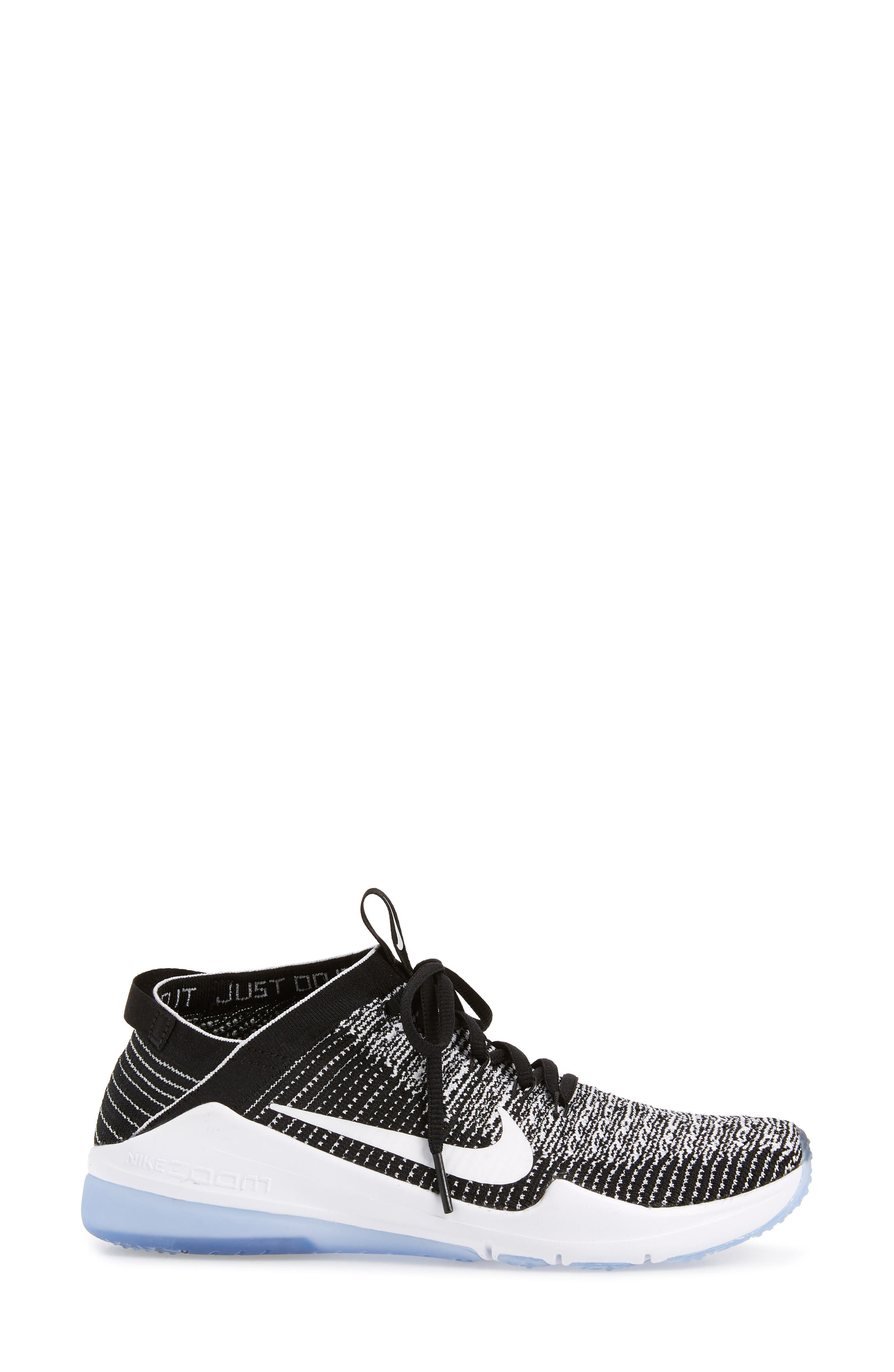 Air Zoom Fearless Flyknit 2 Training Sneaker,                             Alternate thumbnail 3, color,                             BLACK/ WHITE
