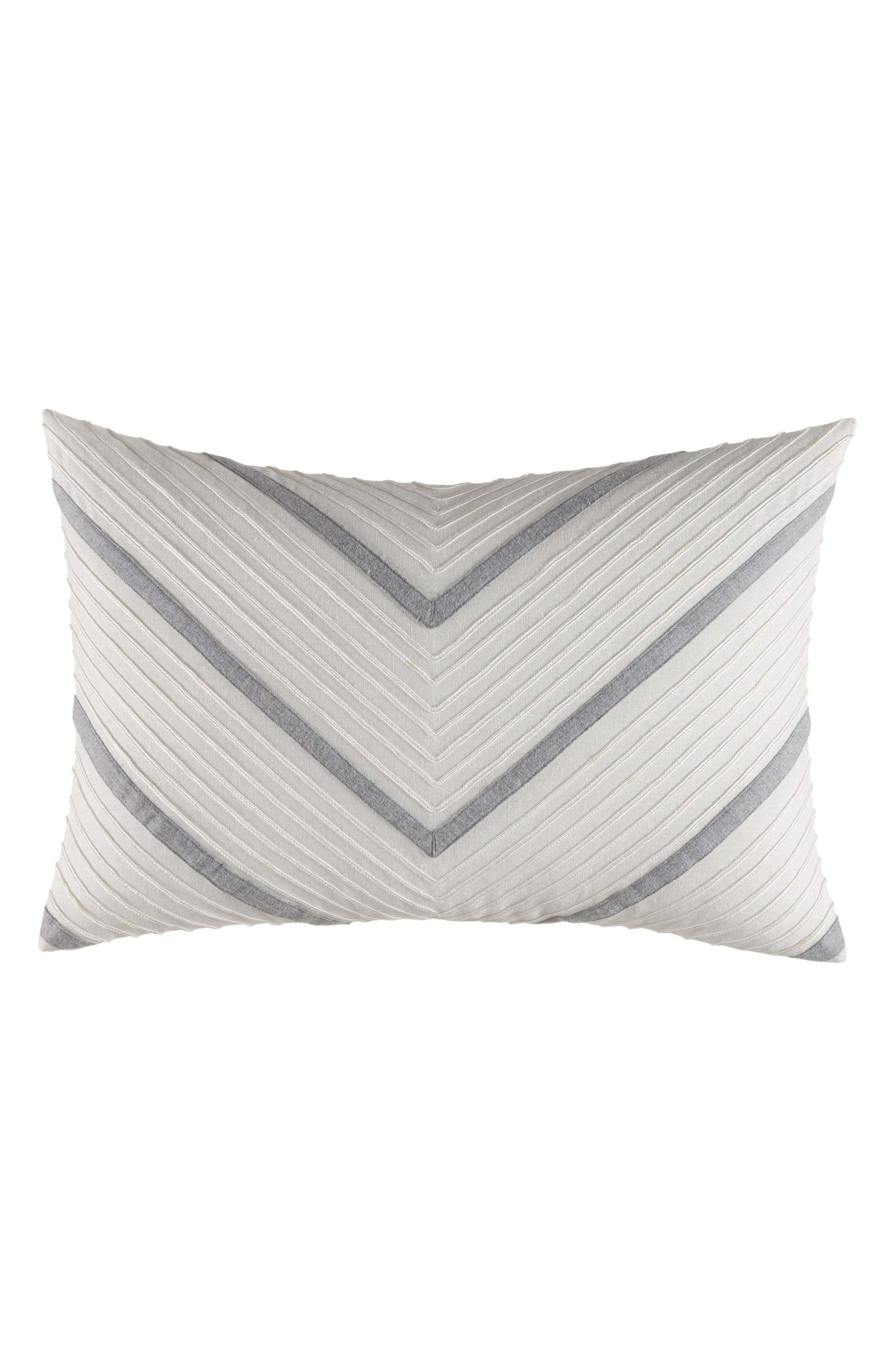 NAUTICA,                             Clearview Chevron Breakfast Pillow,                             Main thumbnail 1, color,                             IVORY