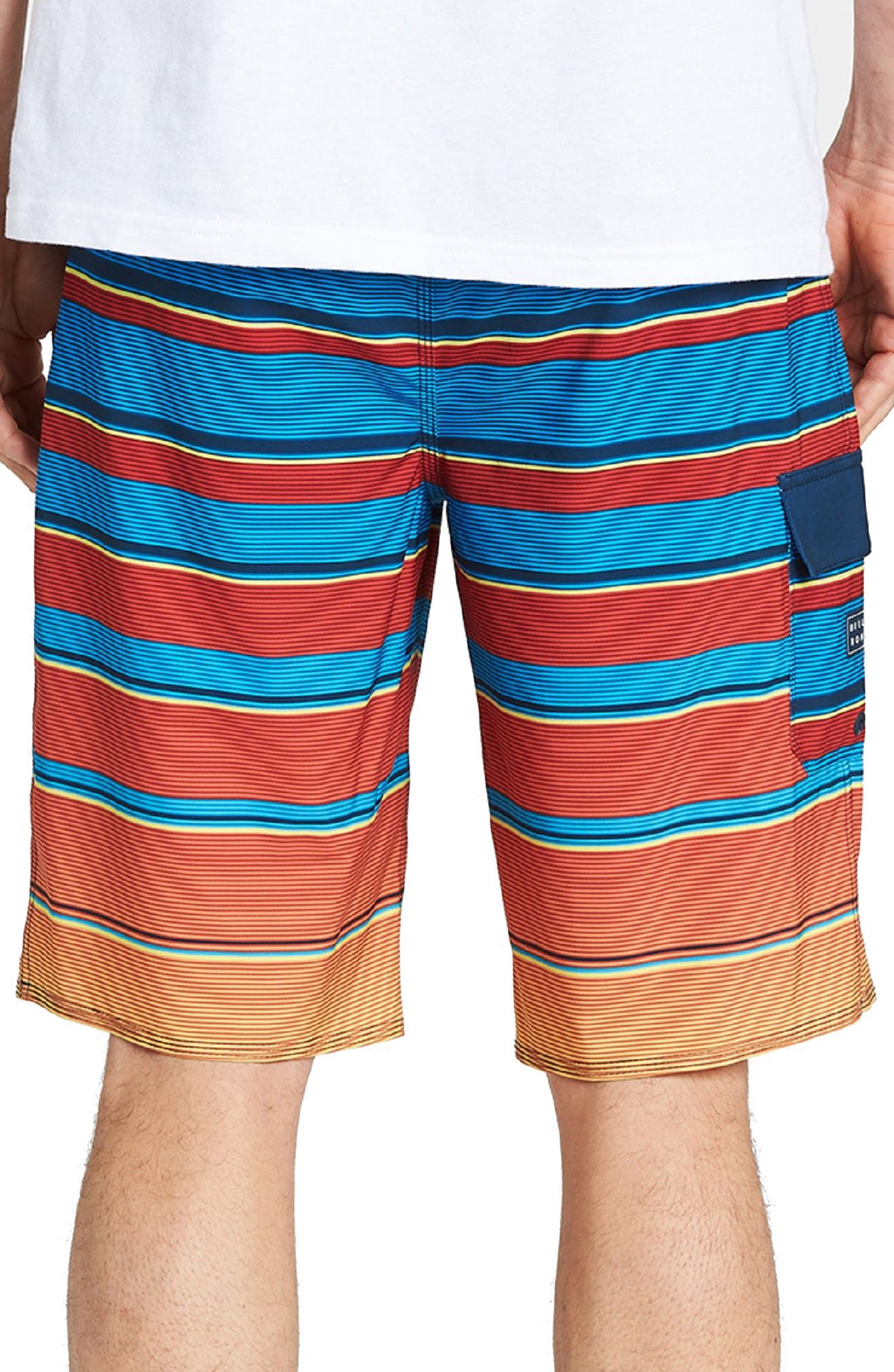 All Day X Stripe Board Shorts,                             Alternate thumbnail 4, color,