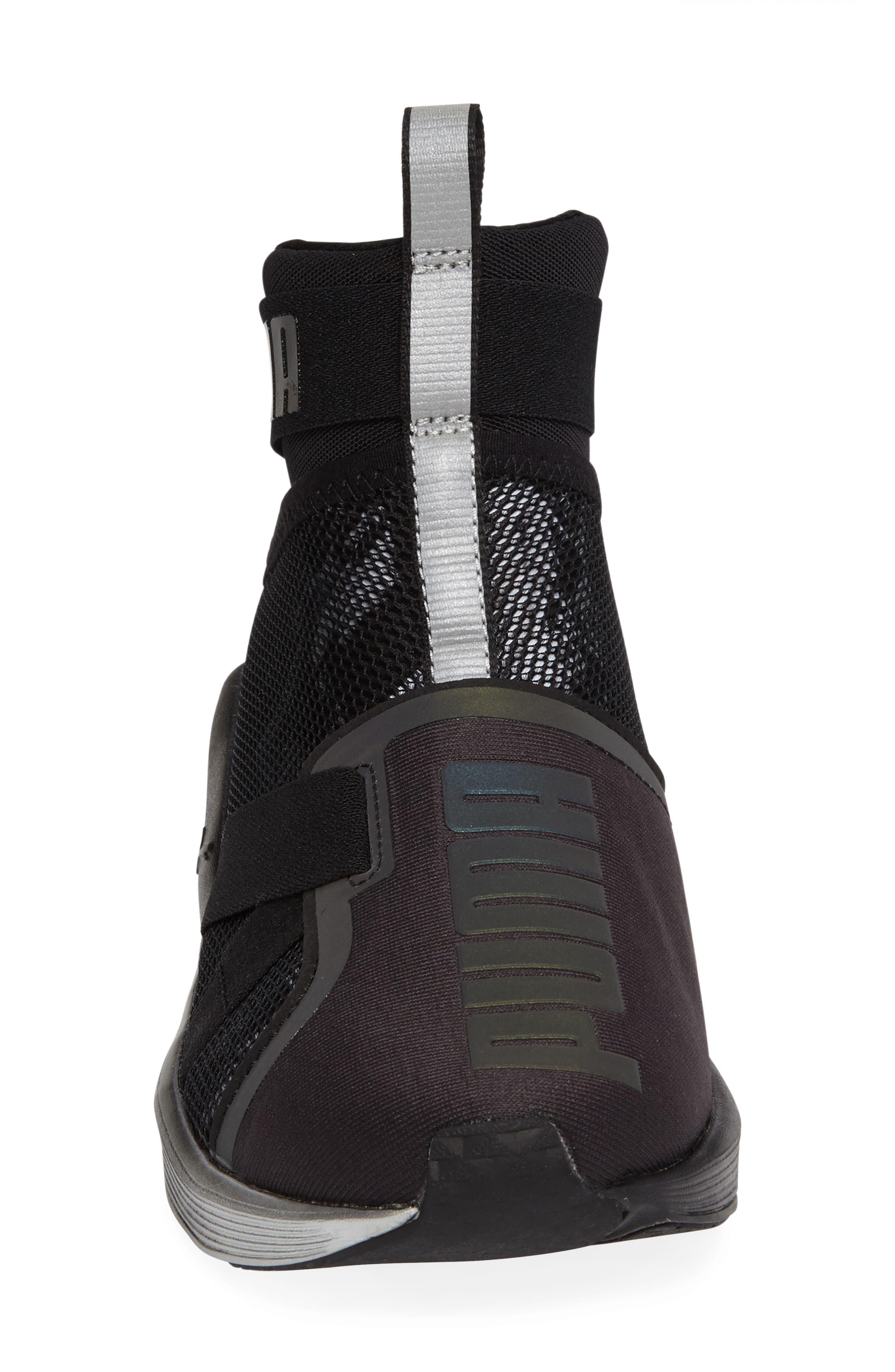 Fierce Strap Swan Training Sneaker,                             Alternate thumbnail 3, color,                             001