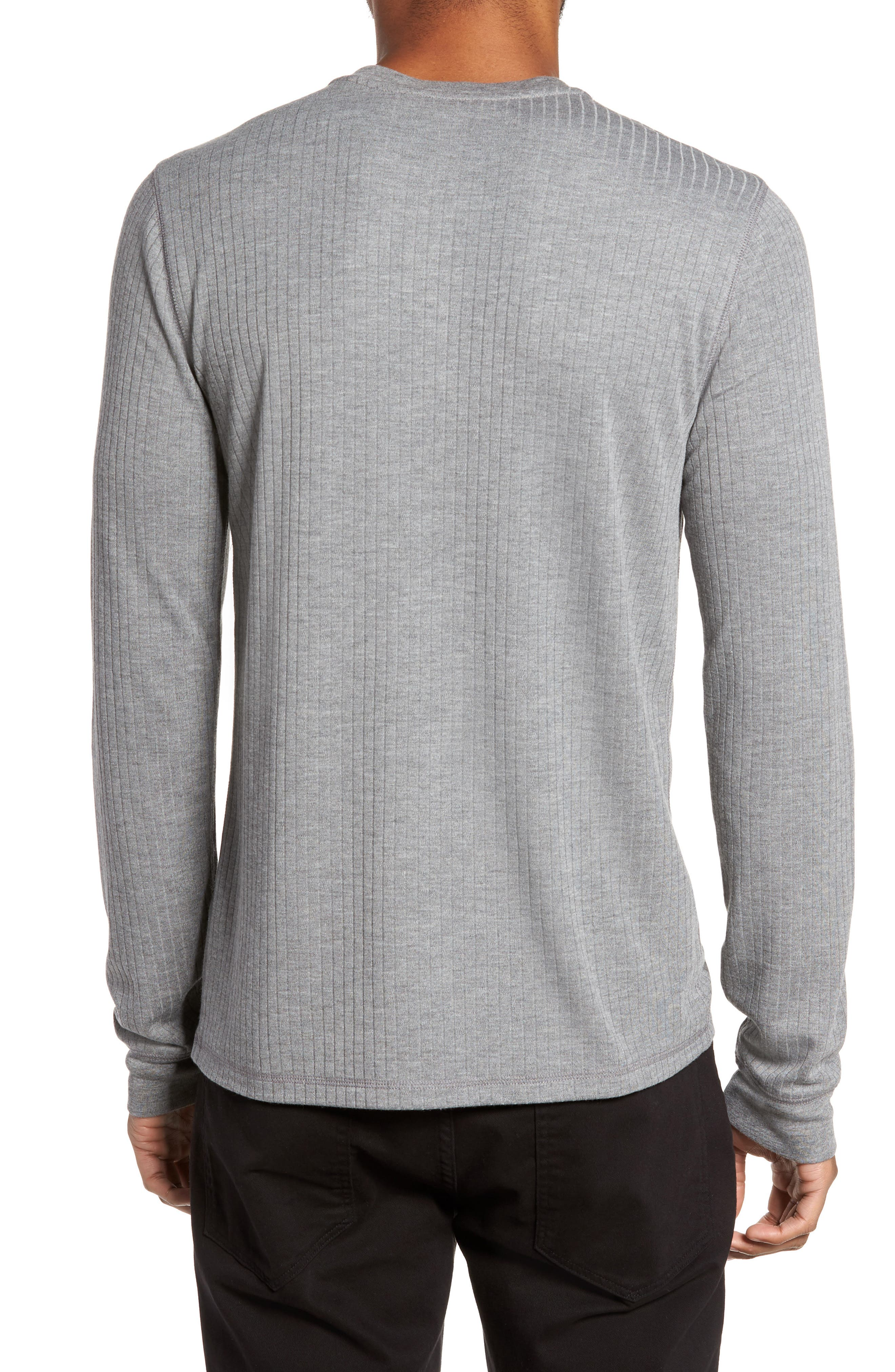 Ribbed Henley,                             Alternate thumbnail 2, color,                             095