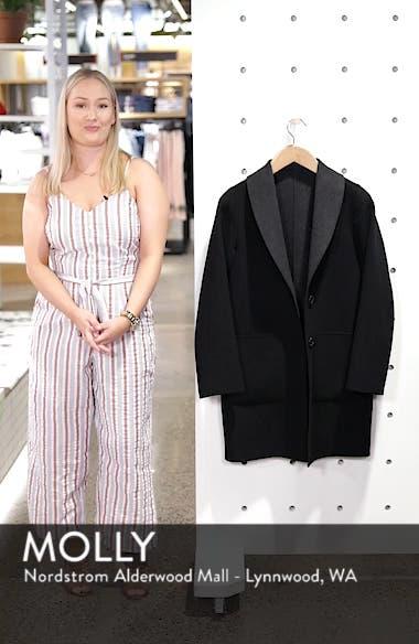 Jenn Double Face Wool Blend Reversible Coat, sales video thumbnail