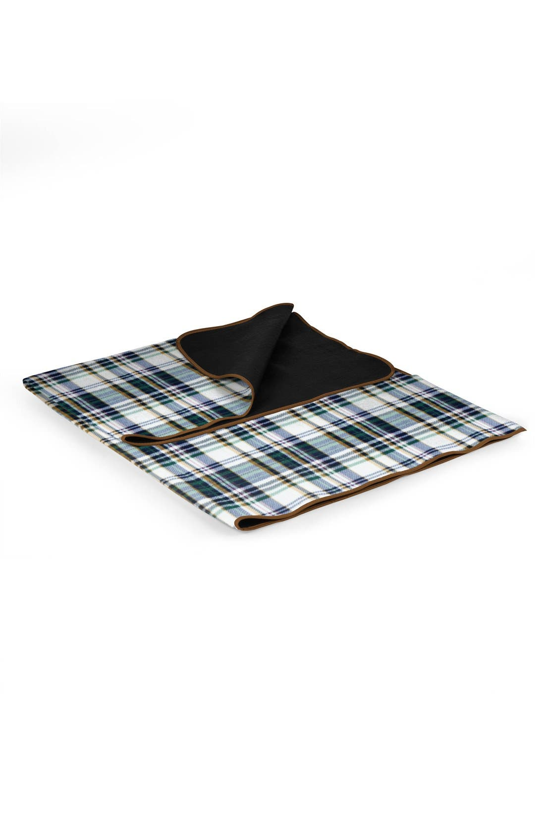 'English Plaid XL' Fold-Up Blanket Tote,                             Alternate thumbnail 2, color,                             BROWN