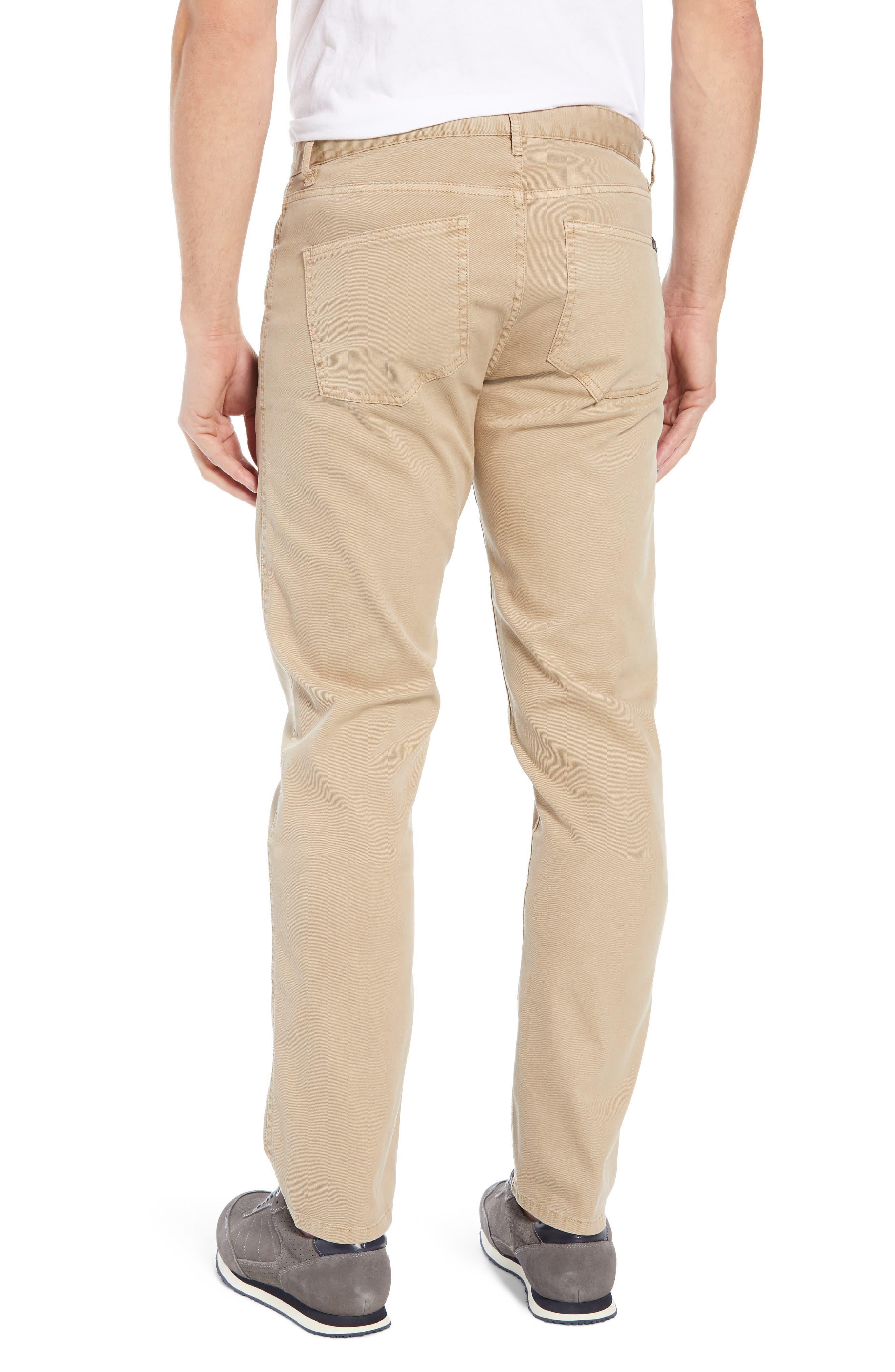 Comfort Twill Five-Pocket Pants,                             Alternate thumbnail 2, color,                             KHAKI