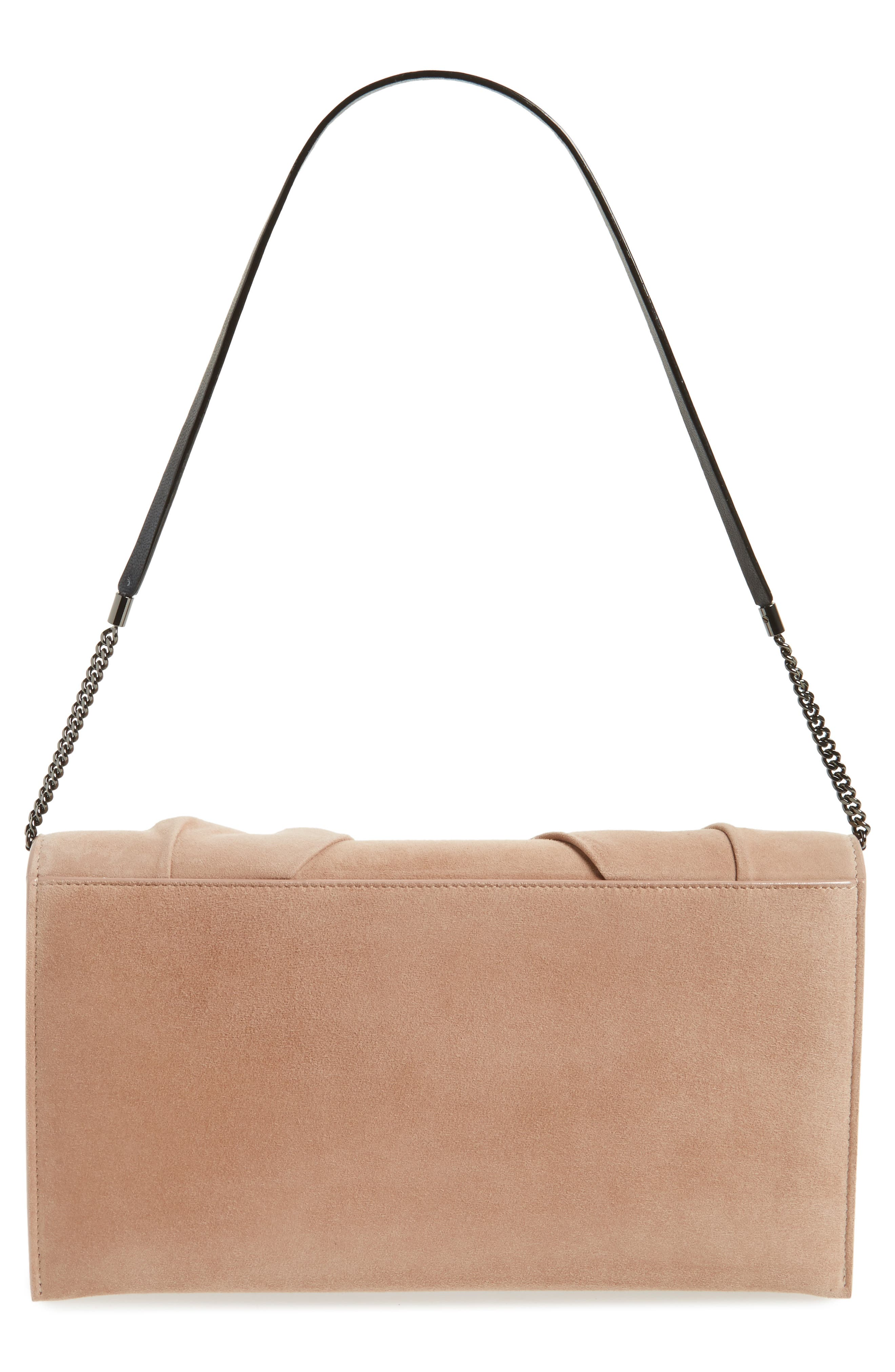 Riva Sue Suede Bow Clutch,                             Alternate thumbnail 3, color,                             680