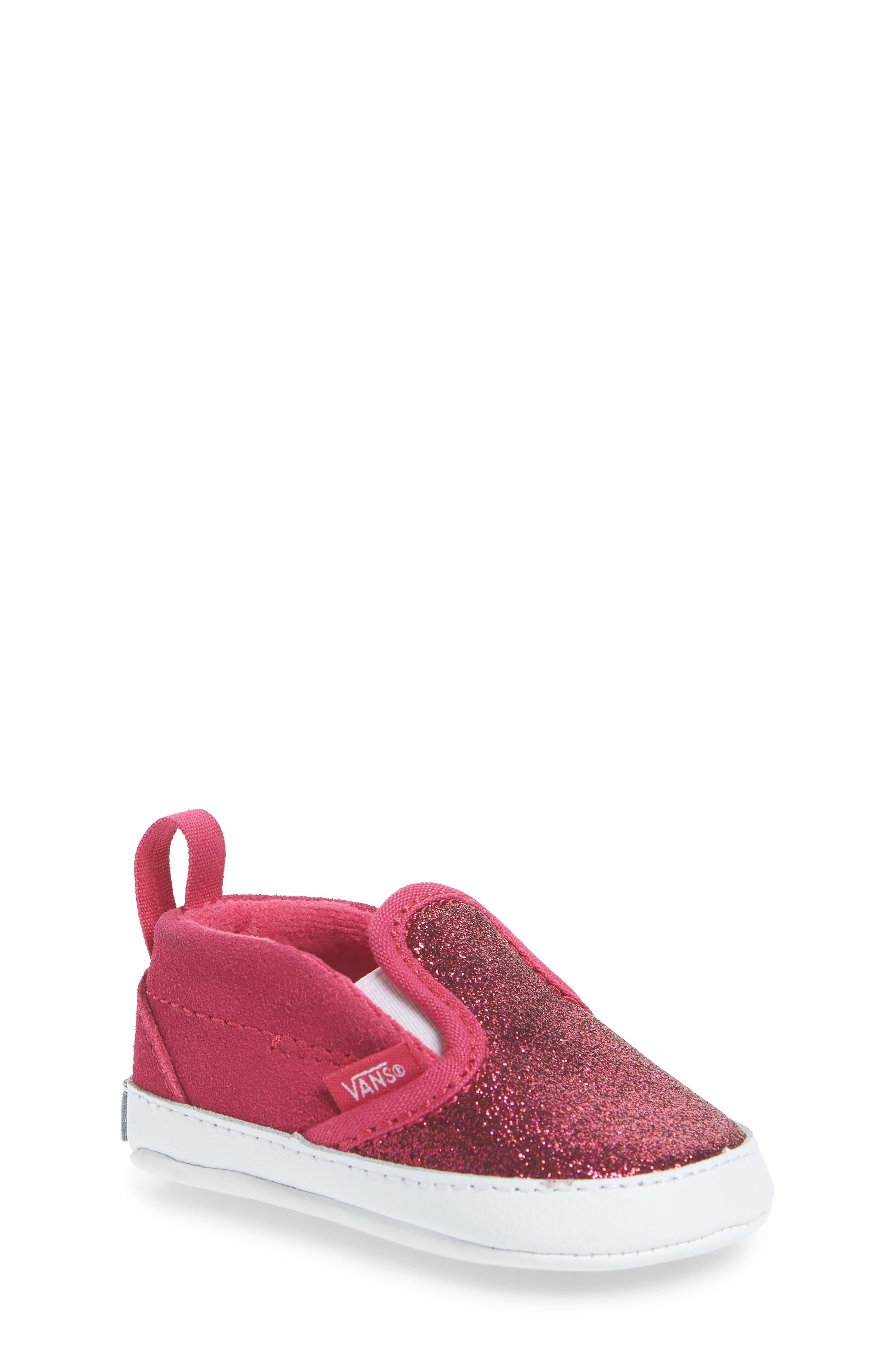 Glitter Crib Shoe,                         Main,                         color, 660