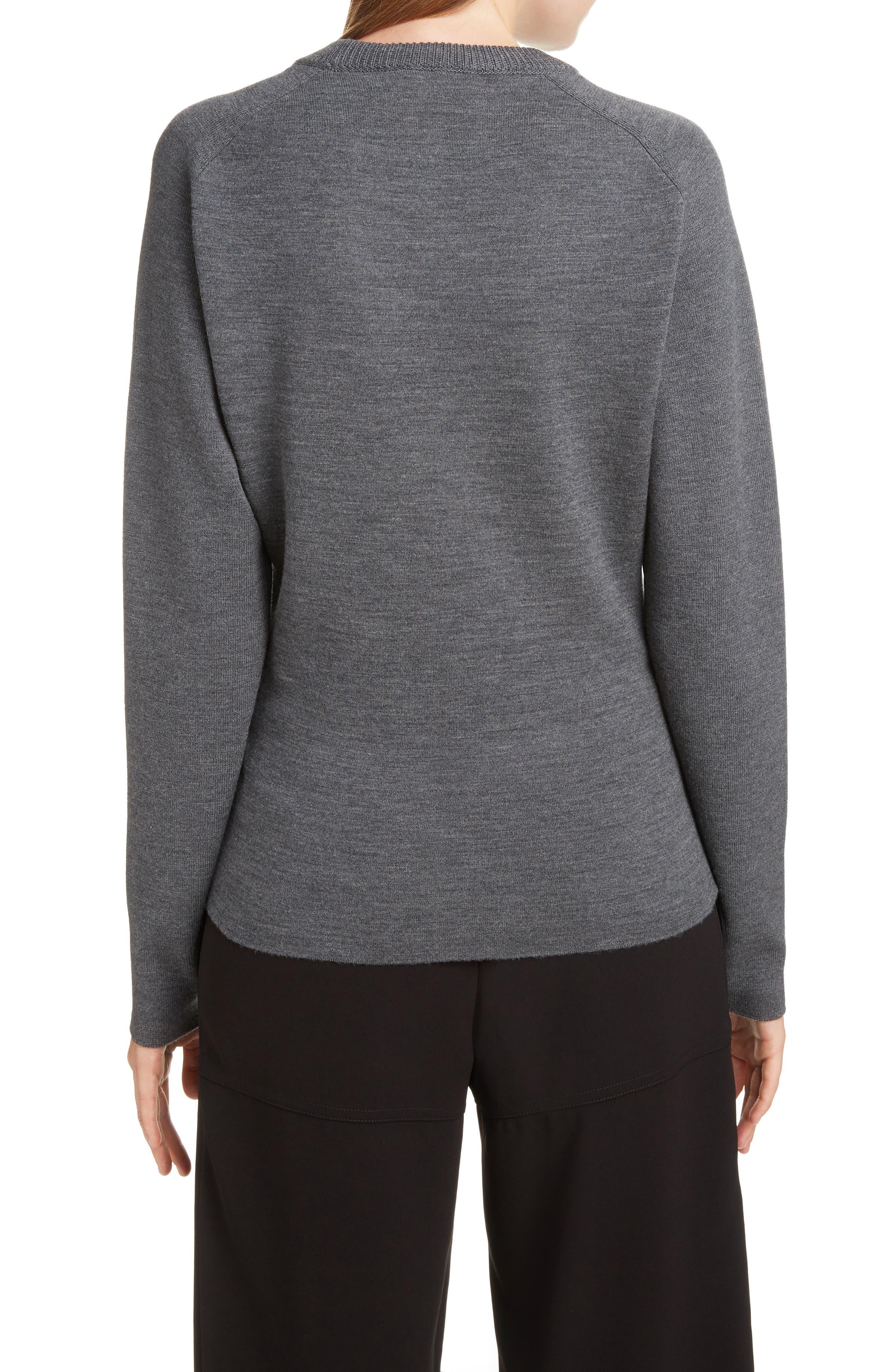 Brocade C Sweater,                             Alternate thumbnail 2, color,                             CONFIDENT GREY