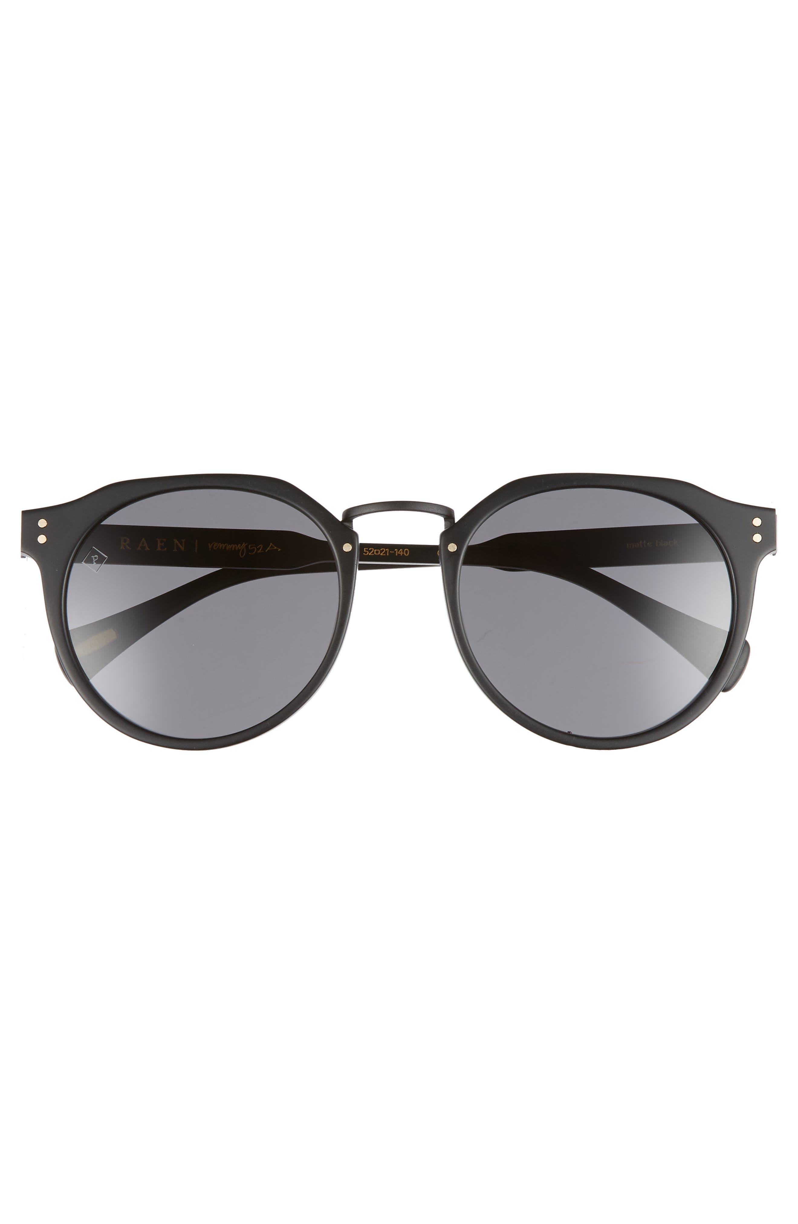 Remmy 52mm Polarized Sunglasses,                             Alternate thumbnail 2, color,                             MATTE BLACK/ MATTE BRINDLE