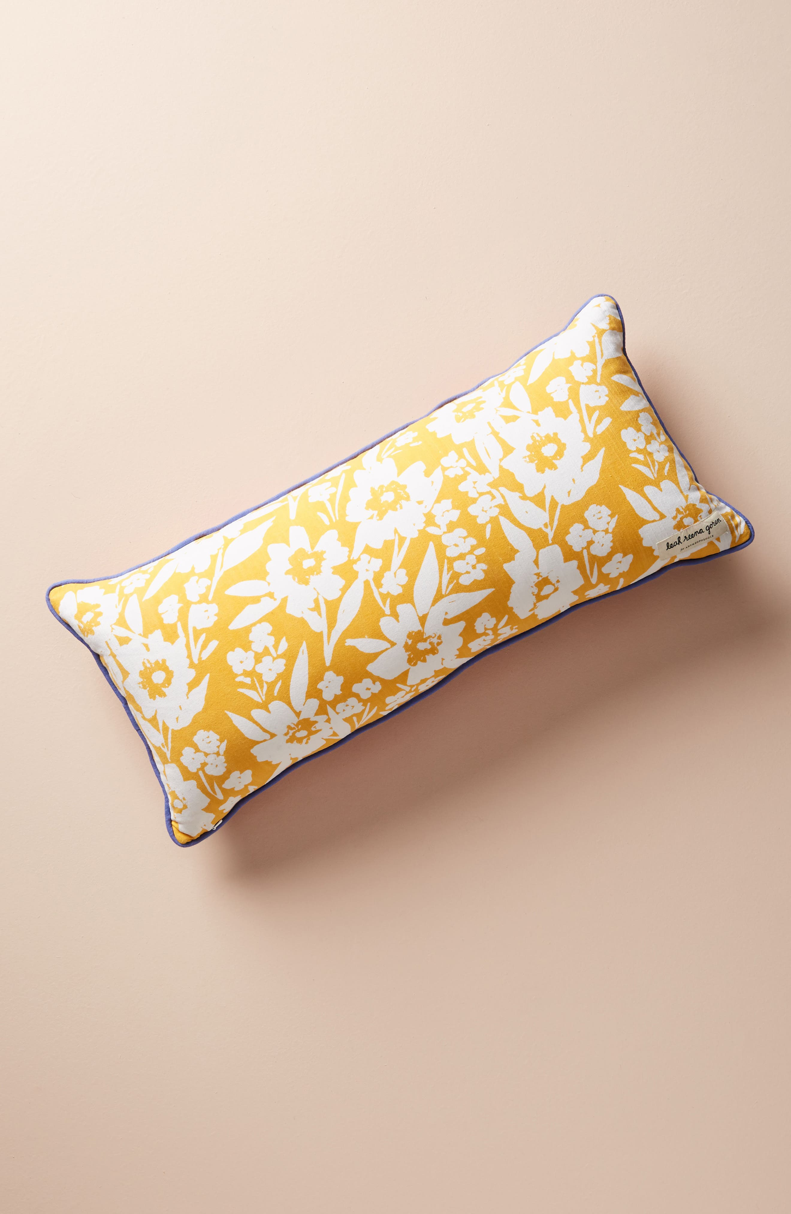 ANTHROPOLOGIE,                             Painted Poppies Accent Pillow,                             Alternate thumbnail 2, color,                             650